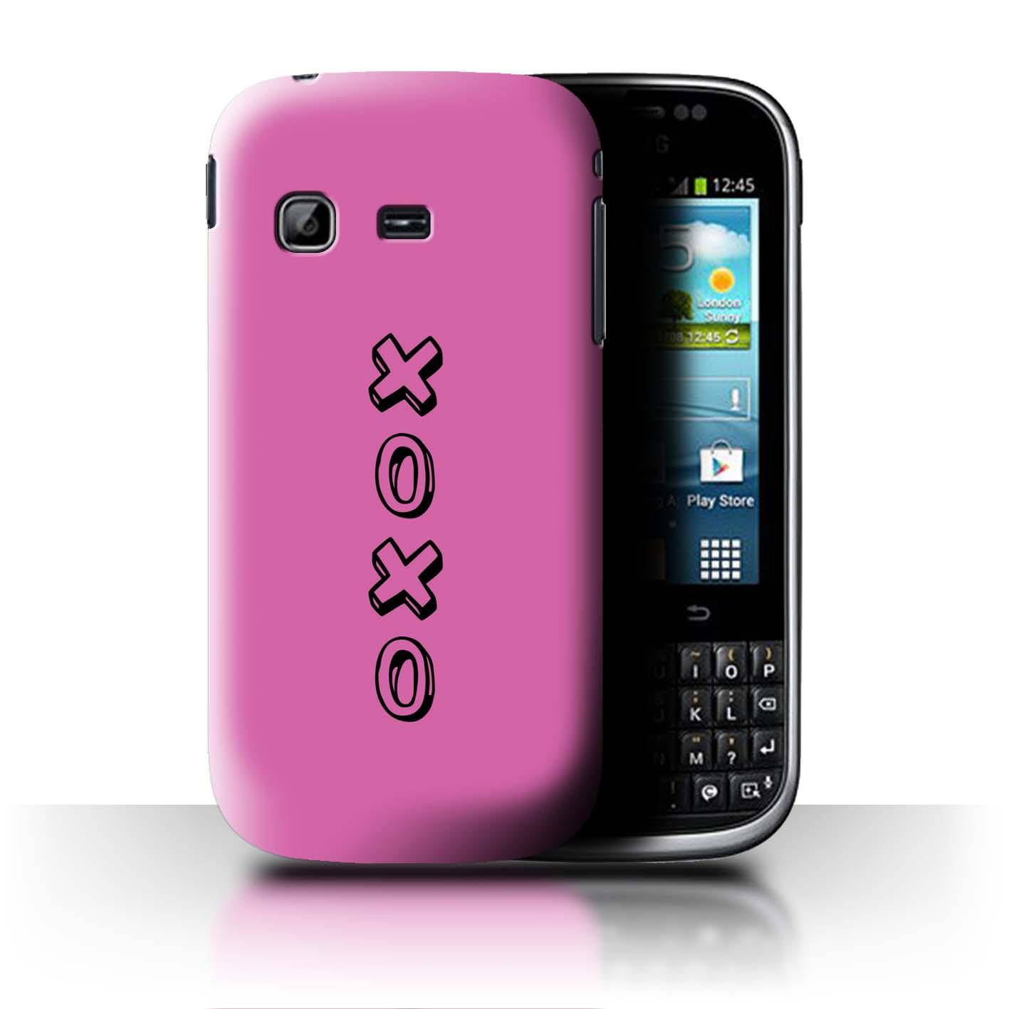 Stuff 4 teléfono caso/cubierta trasera para Samsung Galaxy Chat/B5330/Corazón Xoxo