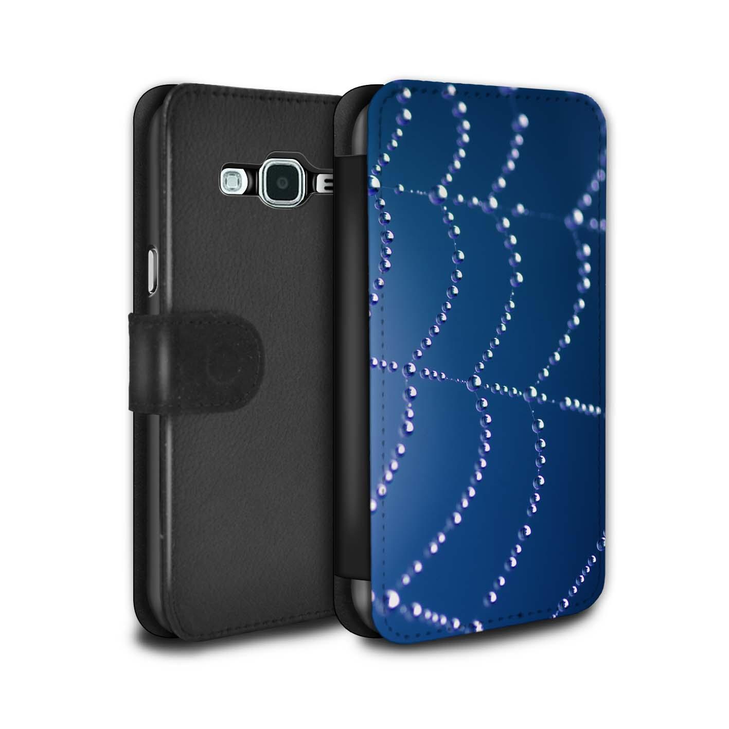 Coque-Etui-Case-Cuir-PU-pour-Samsung-Galaxy-Grand-Prime-Toile-d-039-araignee-Perles