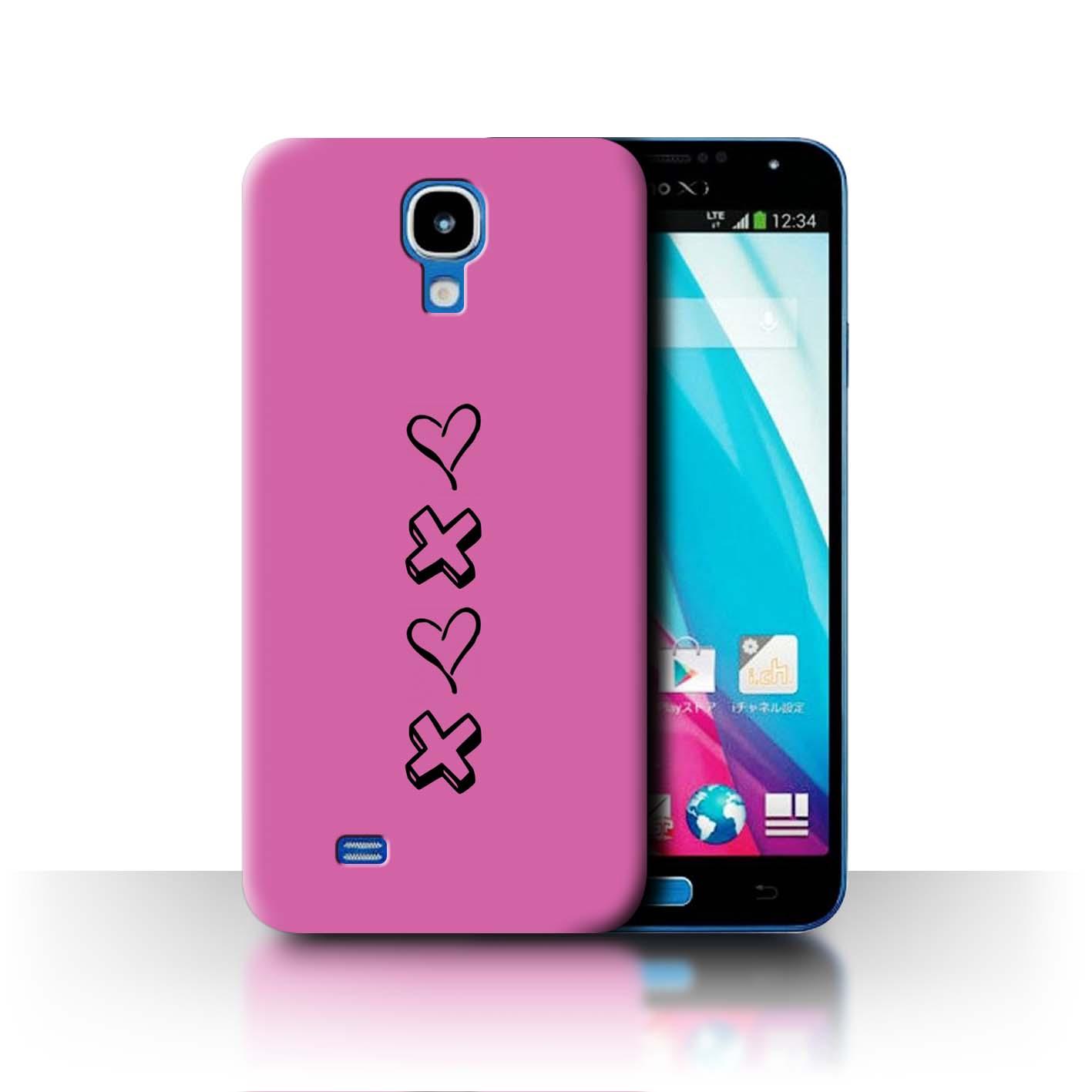 Stuff 4 teléfono caso/cubierta trasera para Samsung Galaxy J/N075T/Corazón Xoxo