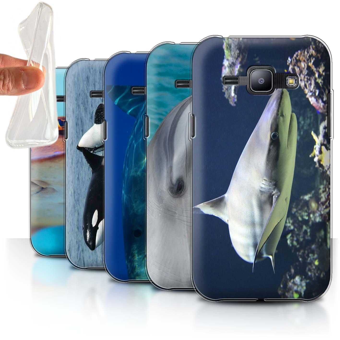 Gel-TPU-Coque-Etui-de-Stuff4-pour-Samsung-Galaxy-J1-J100-Faune-Marine