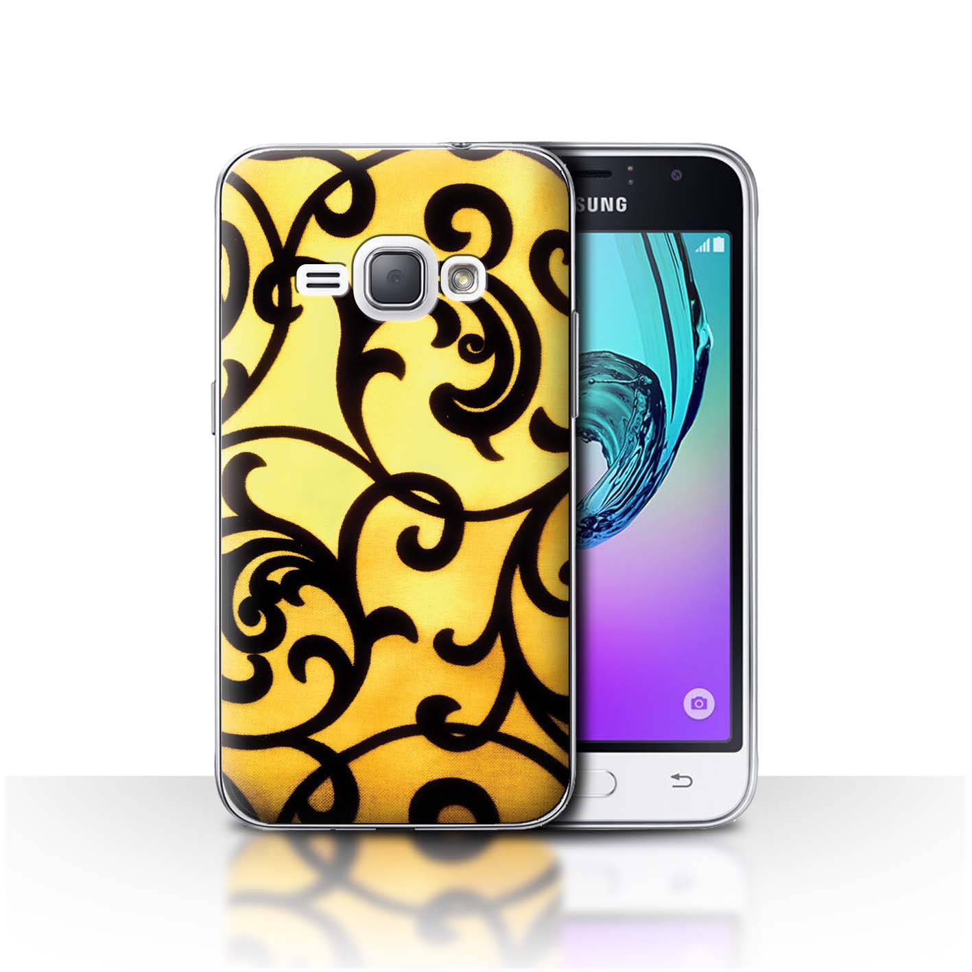 Phone-Case-for-Samsung-Galaxy-J-Smartphone-Yellow-Fashion-Protective-Cover