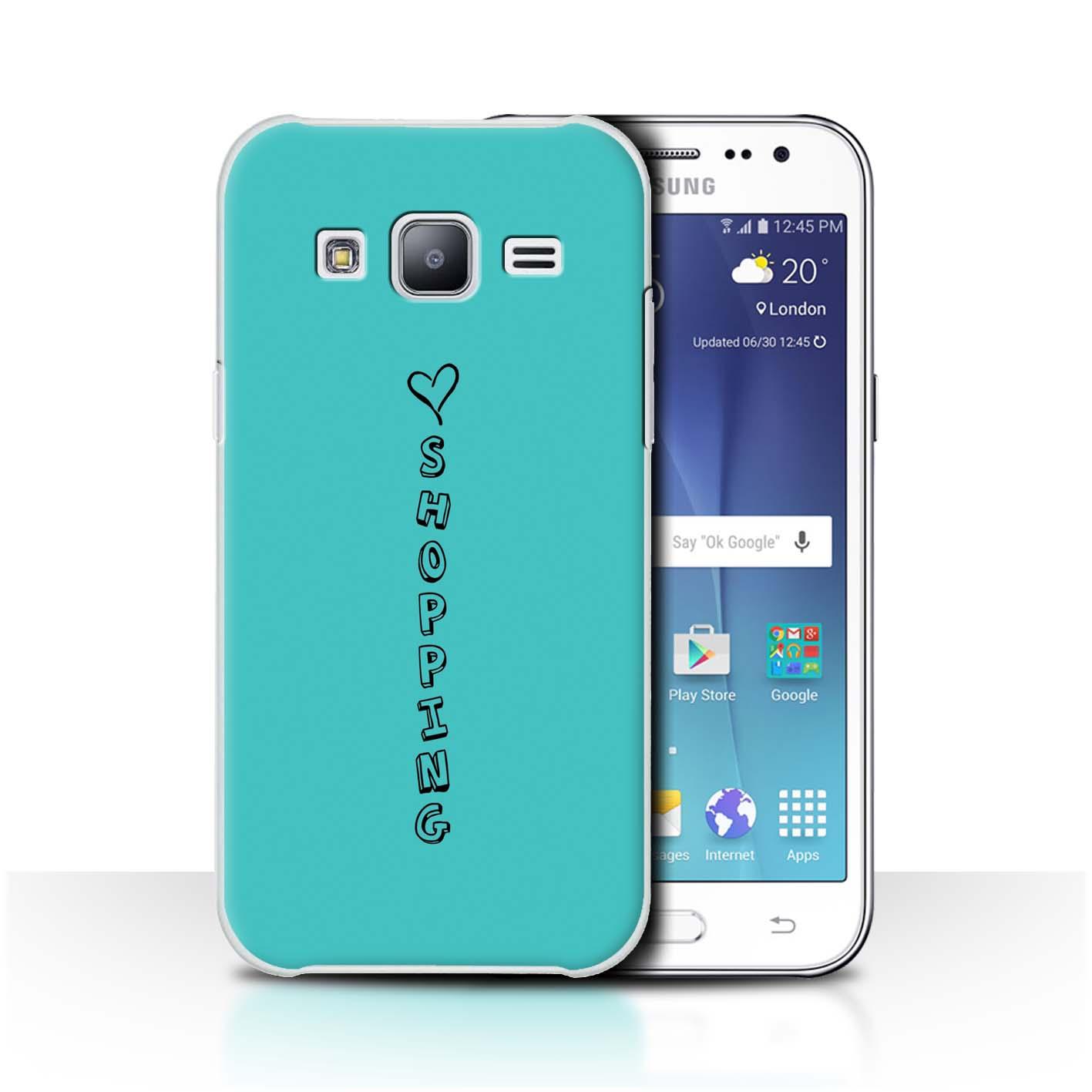 Stuff 4 teléfono caso/cubierta trasera para Samsung Galaxy J2/J200/Corazón Xoxo