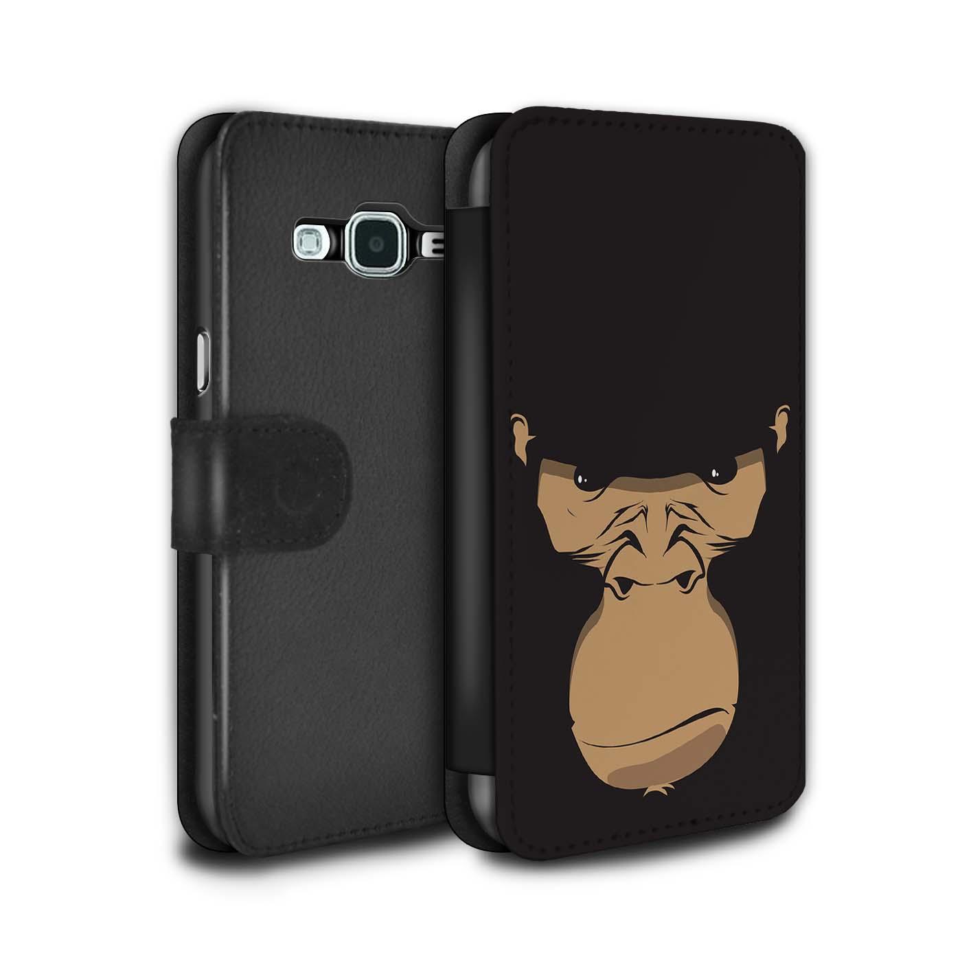 STUFF4-PU-Leder-Huelle-Case-Tasche-fuer-Samsung-Galaxy-J3-Schnauzen