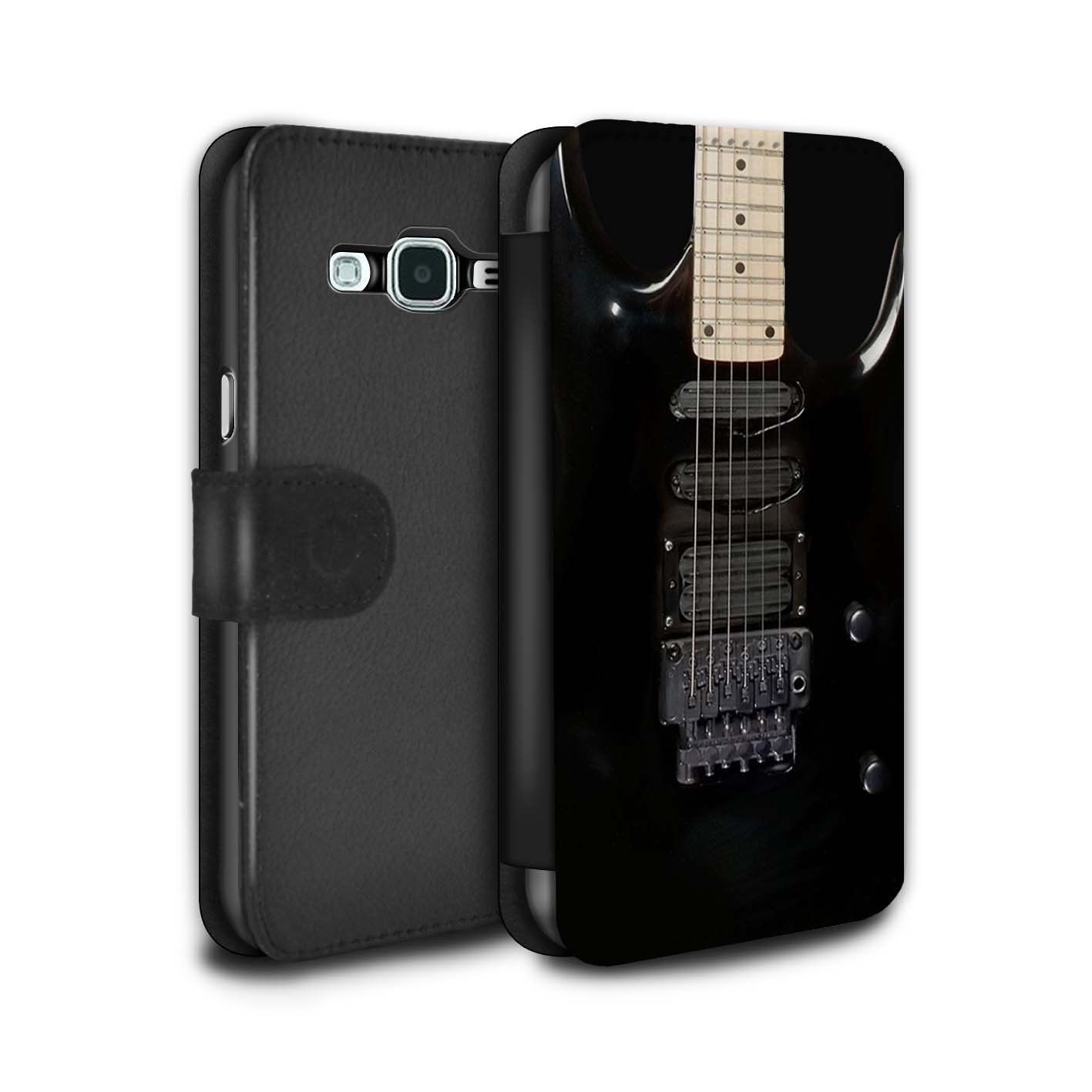 STUFF4-PU-Leather-Case-Cover-Wallet-for-Samsung-Galaxy-J3-Guitar