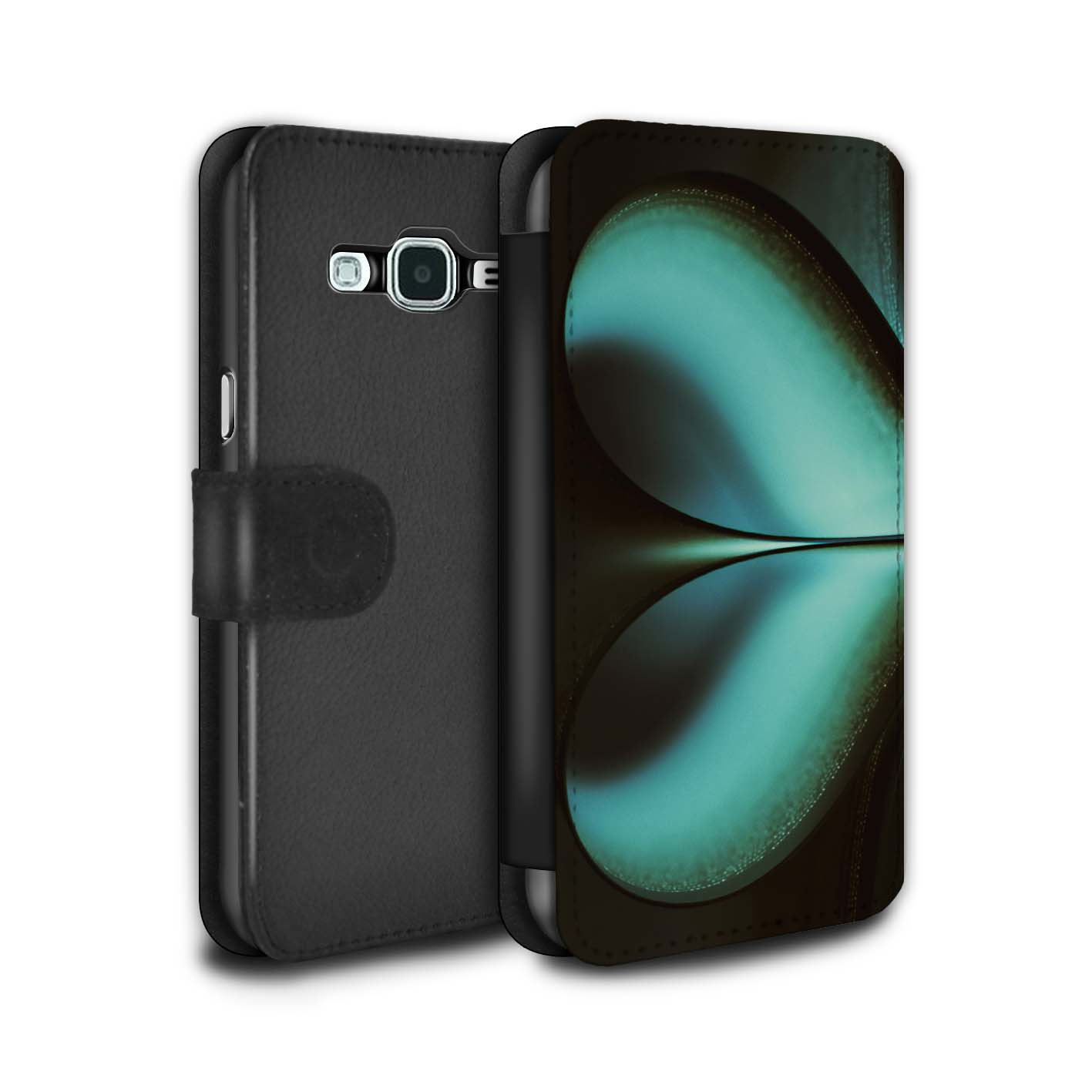 STUFF4-PU-Leather-Case-Cover-Wallet-for-Samsung-Galaxy-J3-Love-Heart-Infinity