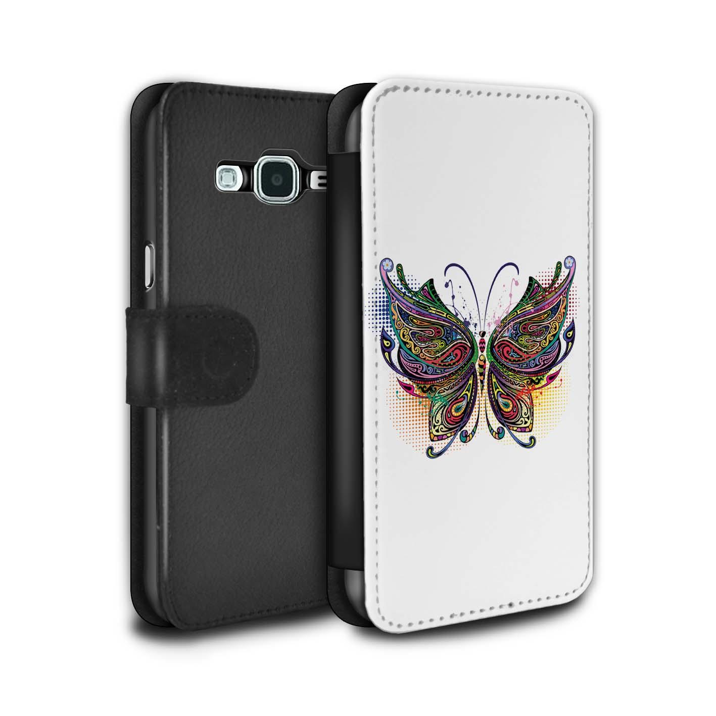 STUFF4-PU-Leder-Huelle-Case-Tasche-fuer-Samsung-Galaxy-J3-Deko-Tiere