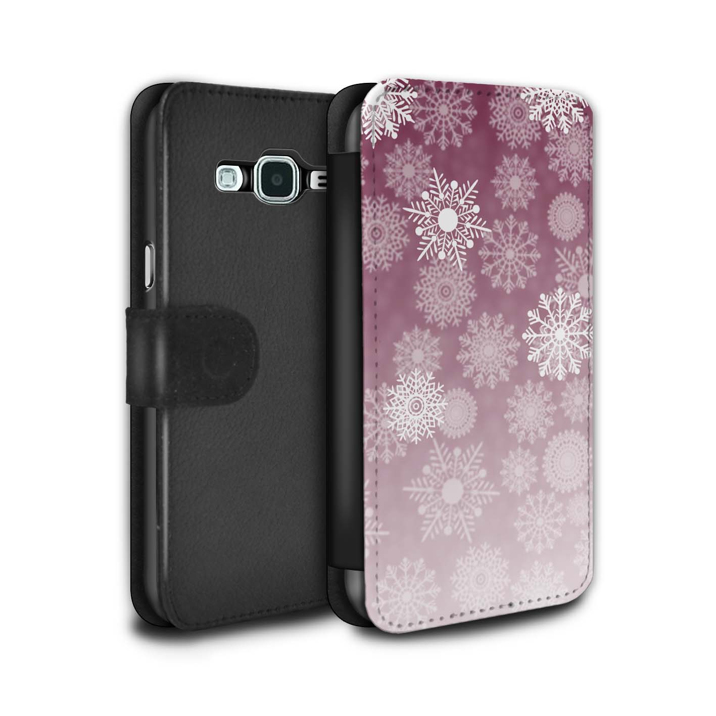 STUFF4-PU-Leather-Case-Cover-Wallet-for-Samsung-Galaxy-J3-Snowflake-Mist