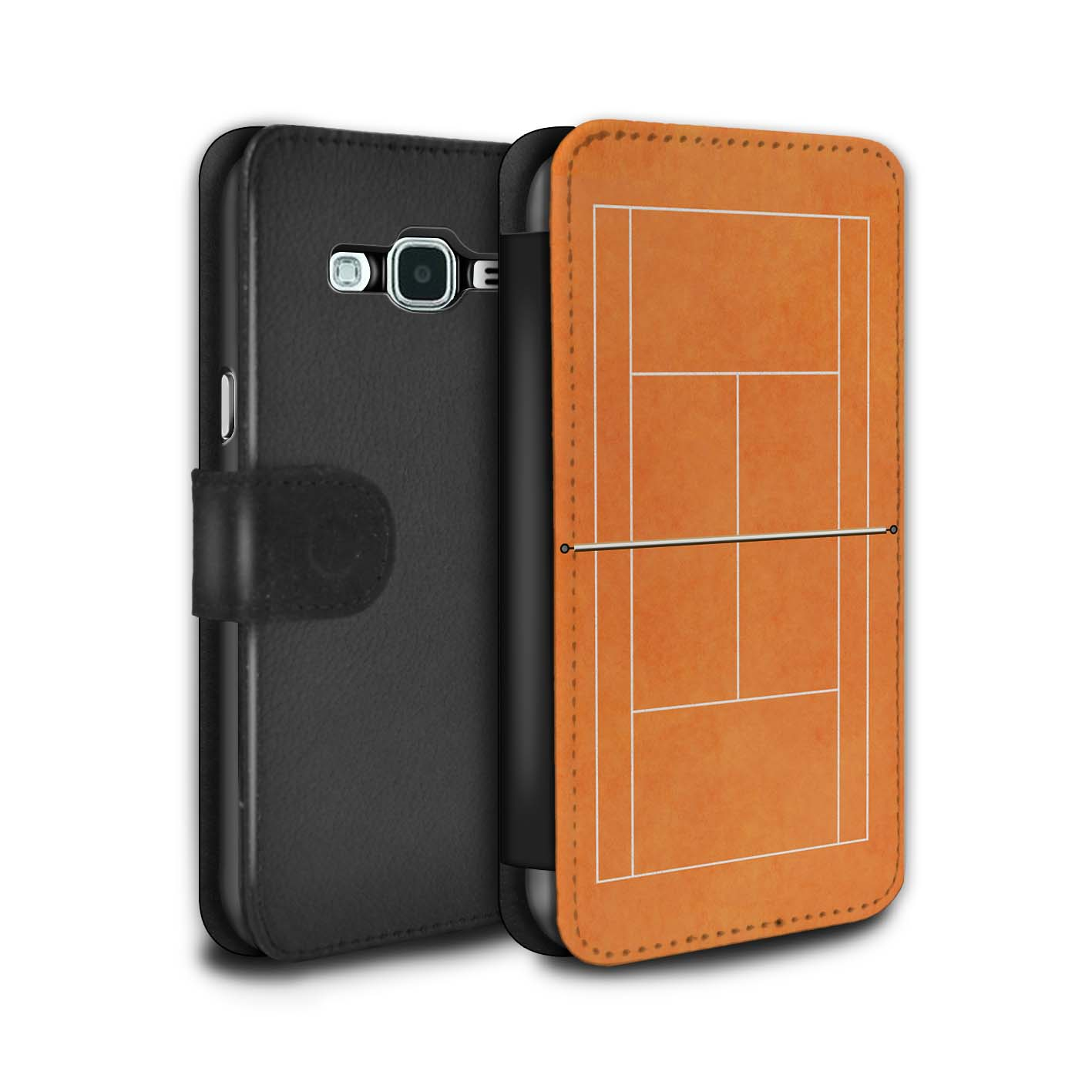 STUFF4-PU-Leather-Case-Cover-Wallet-for-Samsung-Galaxy-J3-Tennis-Courts