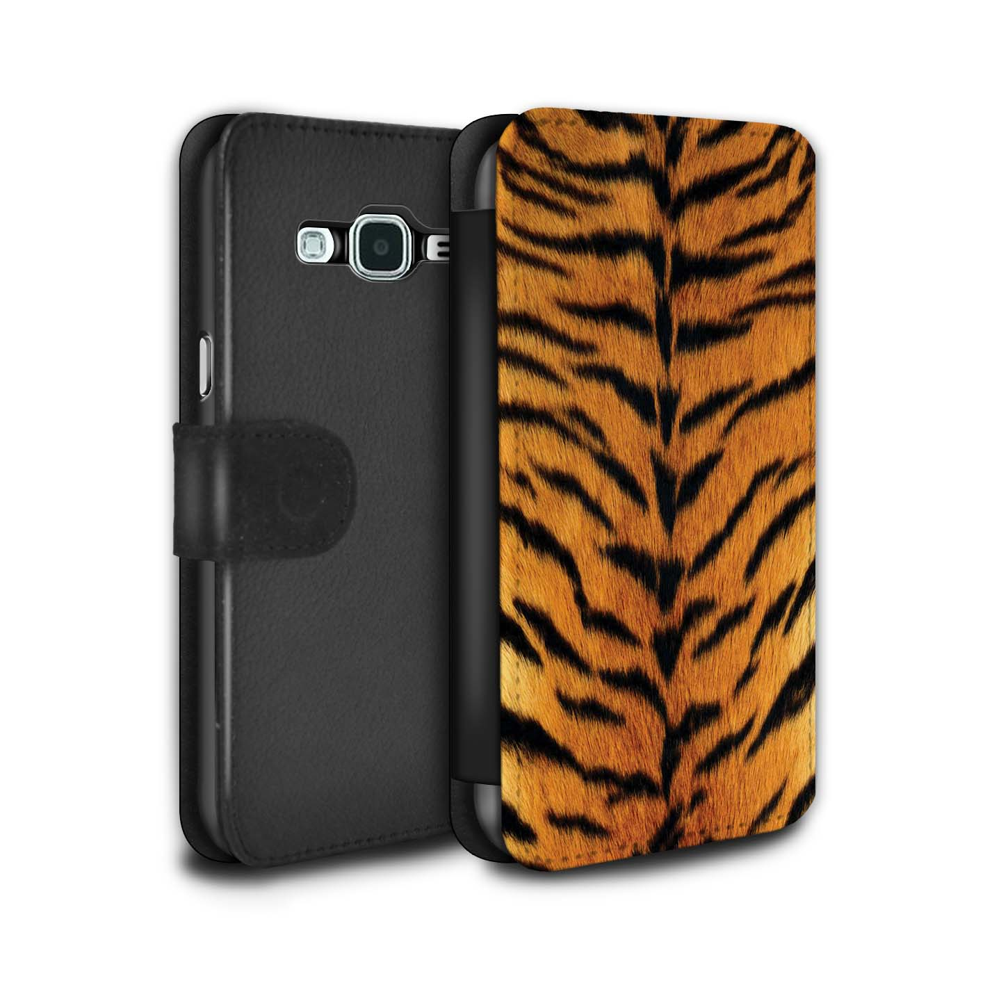PU-Leather-Case-Cover-Wallet-for-Samsung-Galaxy-J3-Tiger-Animal-Skin-Print