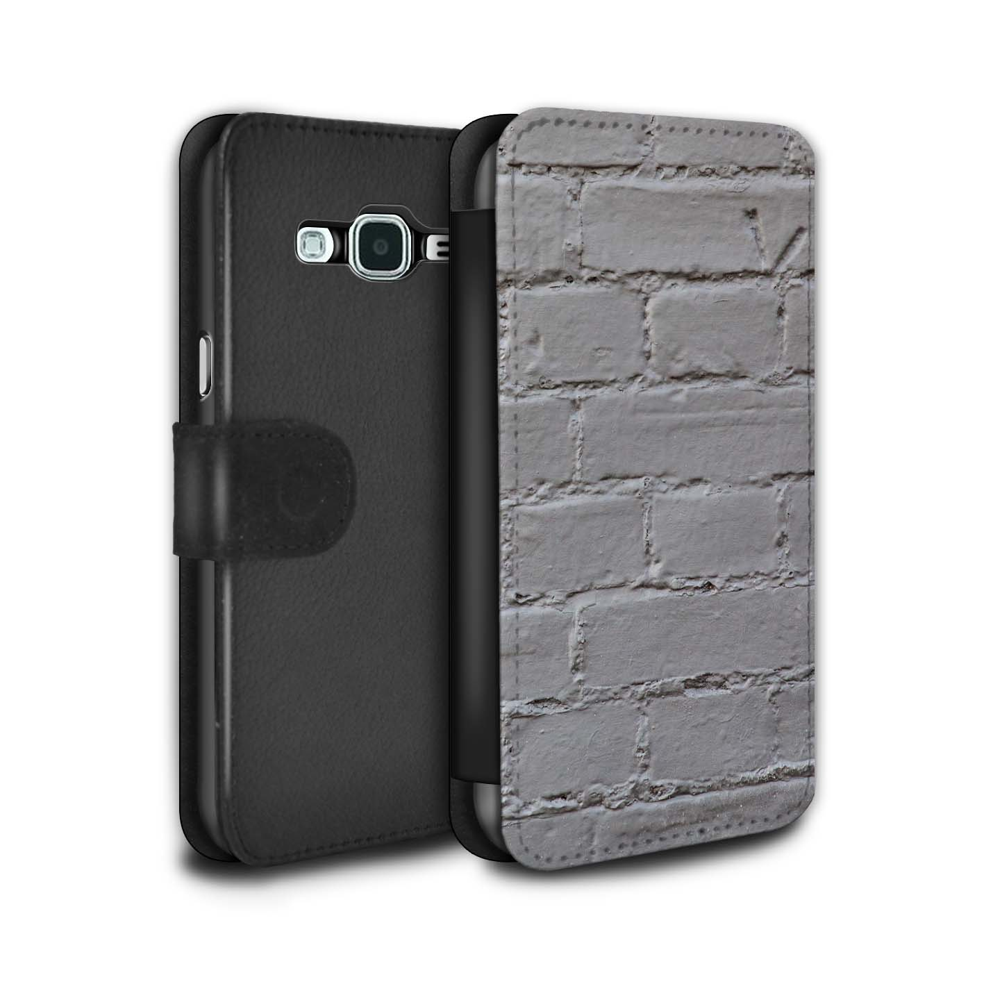 STUFF4-PU-Leather-Case-Cover-Wallet-for-Samsung-Galaxy-J3-Brickwork