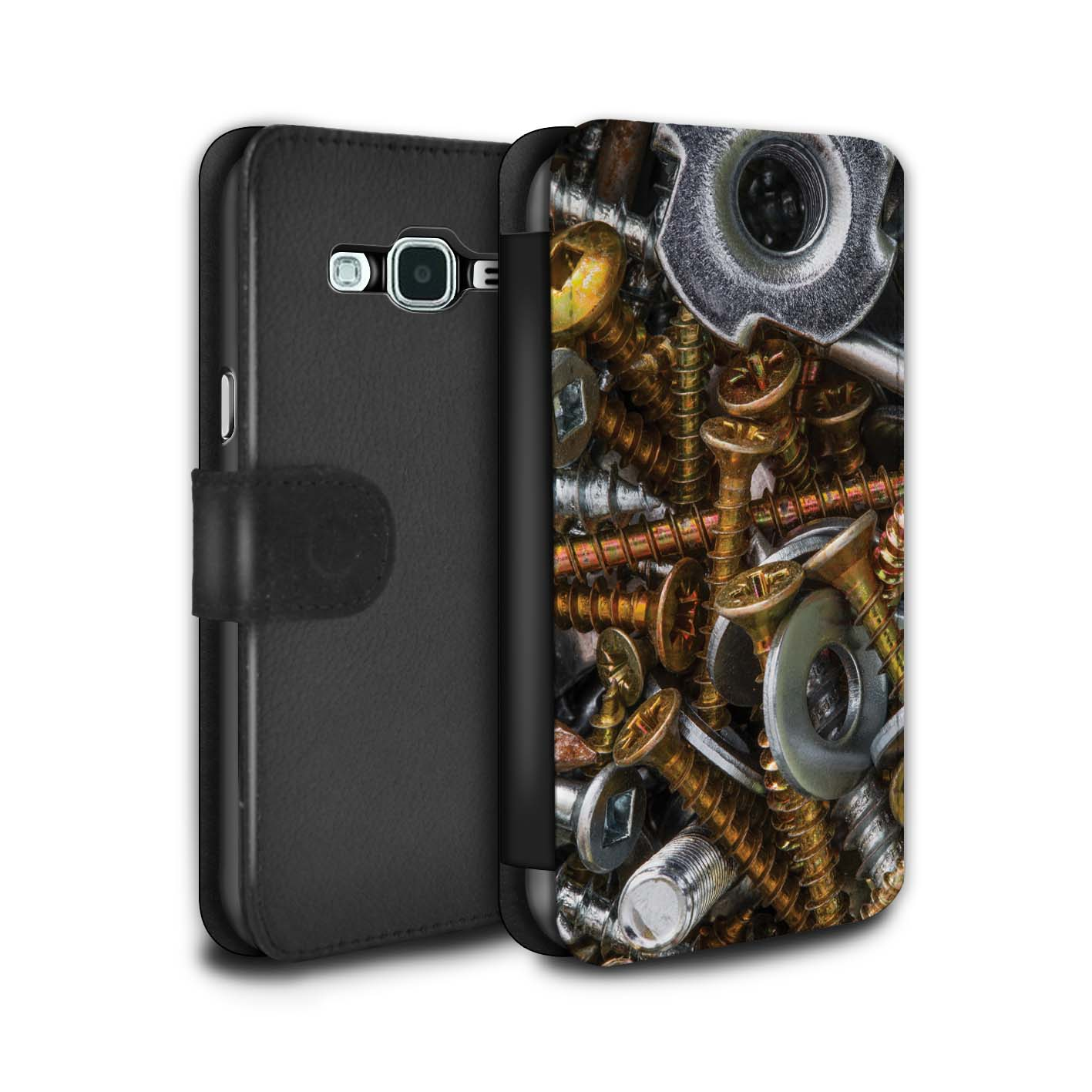 STUFF4-PU-Leather-Case-Cover-Wallet-for-Samsung-Galaxy-J3-DIY-Hardware