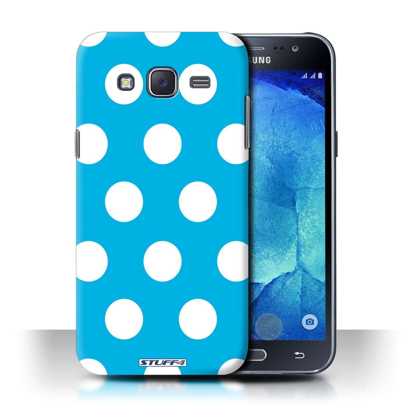 stuff4 phone case back cover for samsung galaxy j5 j500 polka dot