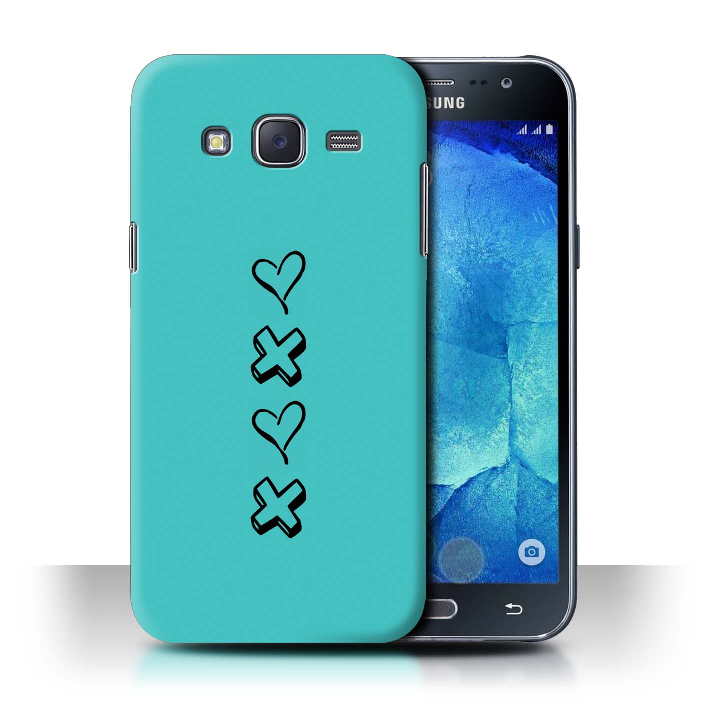 STUFF4 Phone Case/Back Cover for Samsung Galaxy J5/J500 /Heart XOXO
