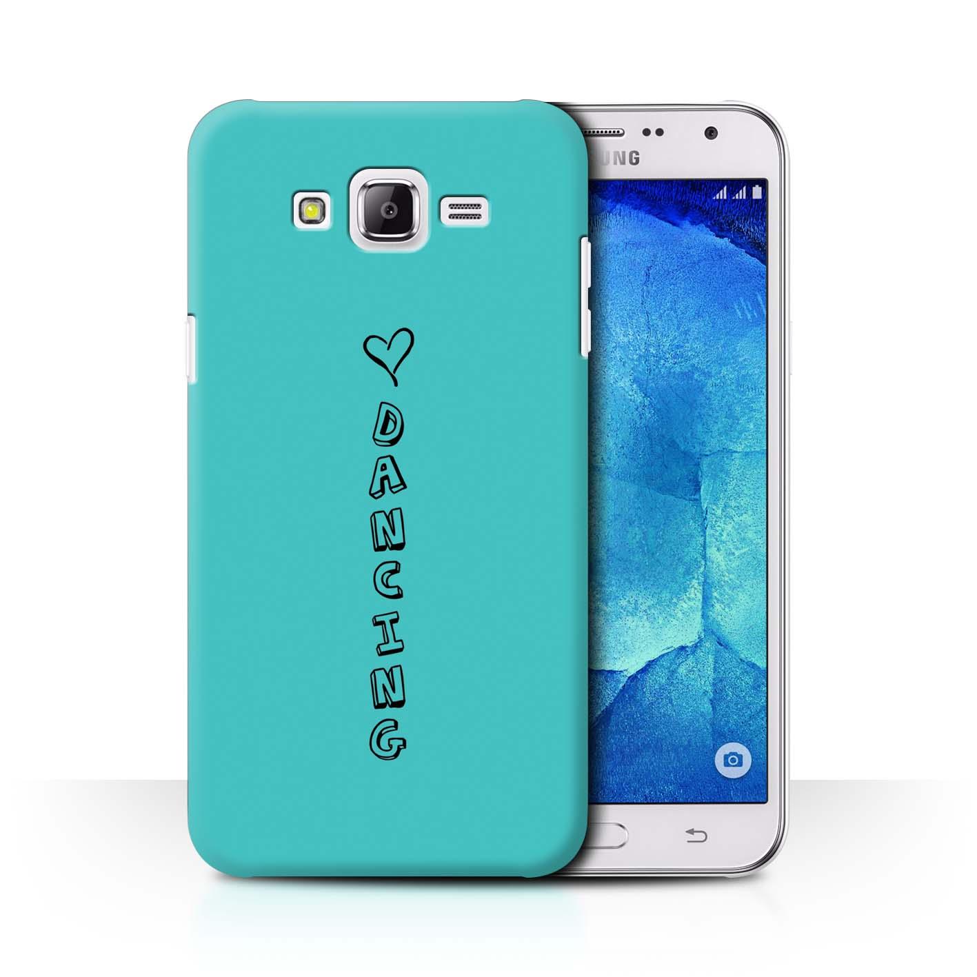 Stuff 4 teléfono caso/cubierta trasera para Samsung Galaxy J7/J700/Corazón Xoxo