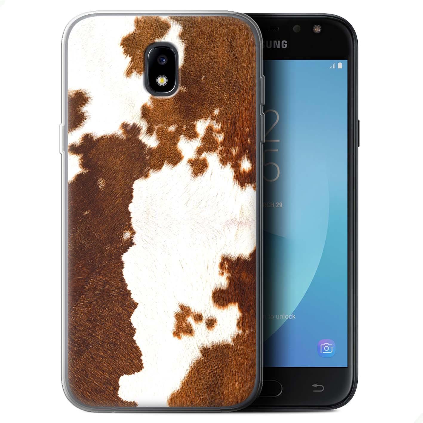 Gel-TPU-Case-Cover-for-Samsung-Galaxy-J7-2017-J730-Animal-Fur-Effect-Pattern