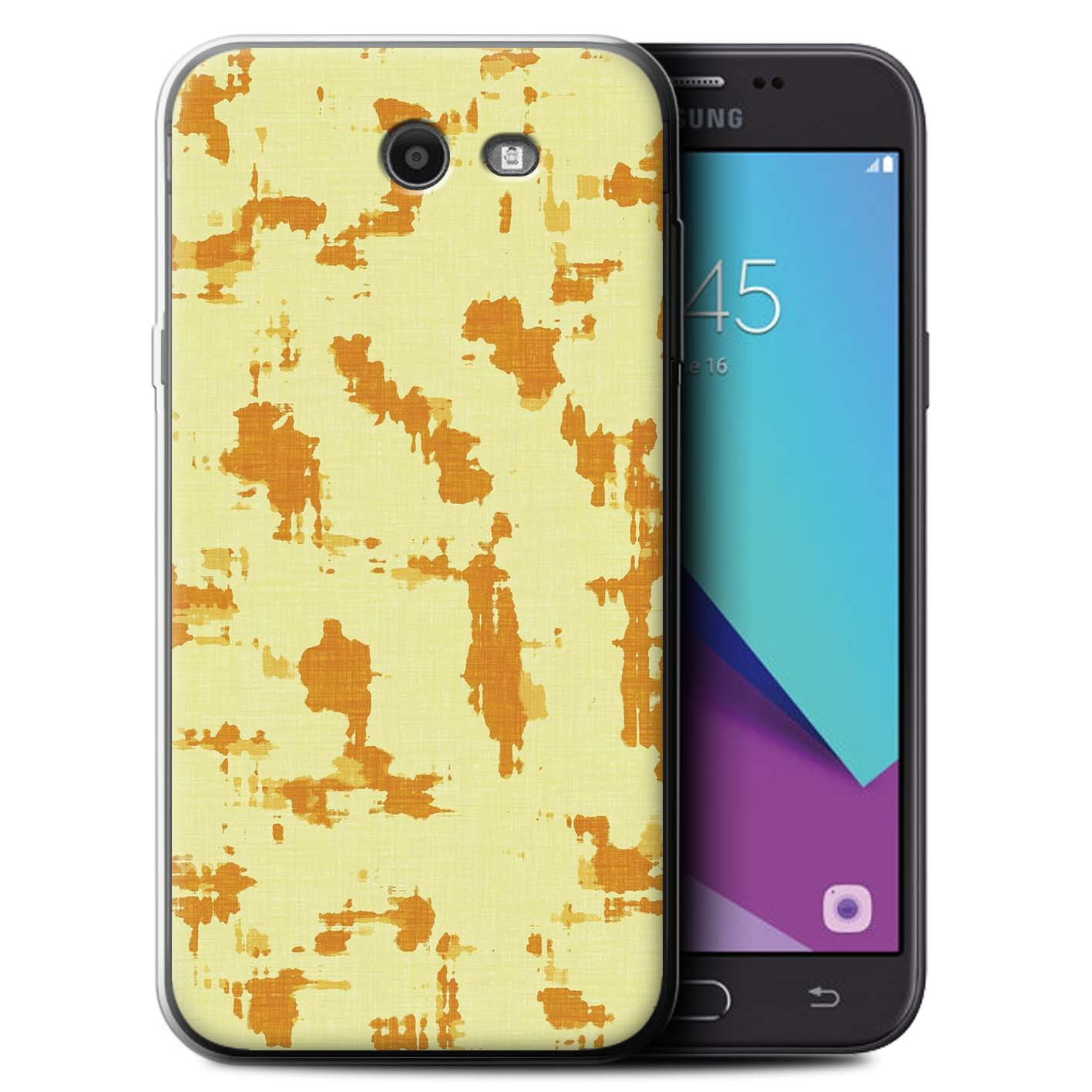 Gel-TPU-Coque-Etui-de-Stuff4-pour-Samsung-Galaxy-J7-2017-J727-Mode-Jaune