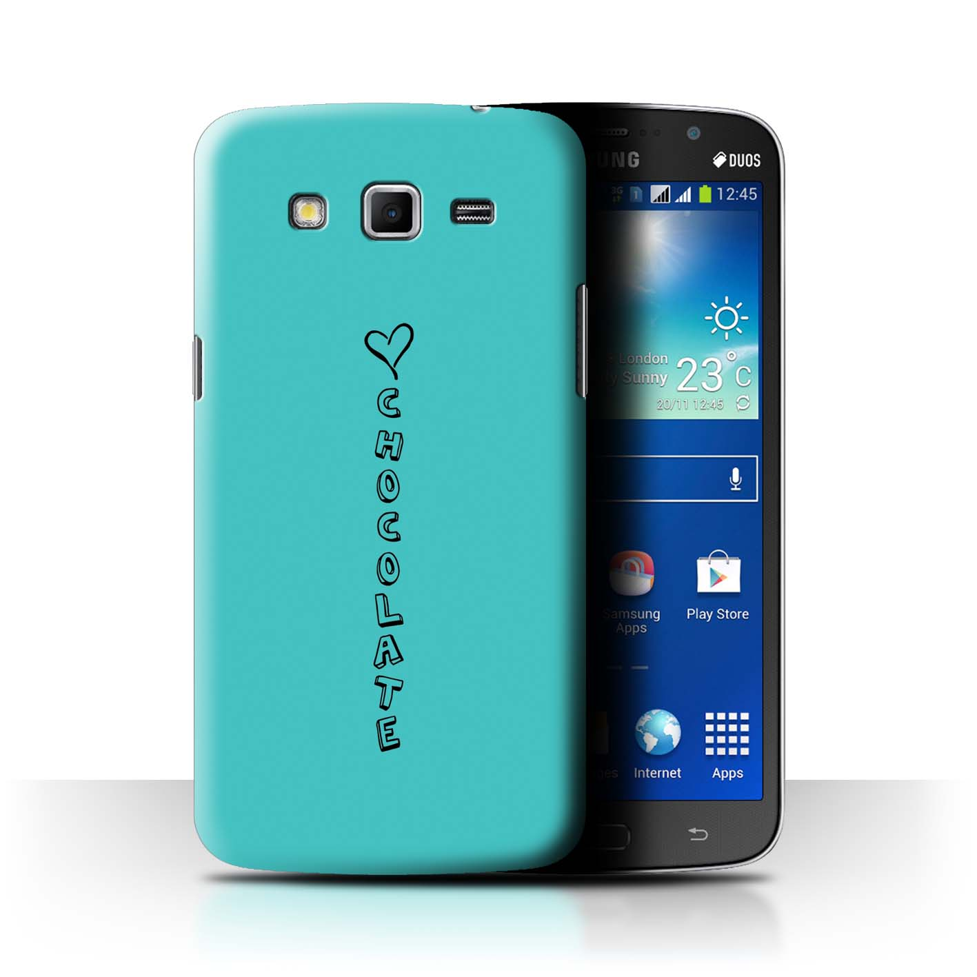 Stuff 4 teléfono caso/cubierta trasera para Samsung Galaxy Mega 5.8/Corazón Xoxo