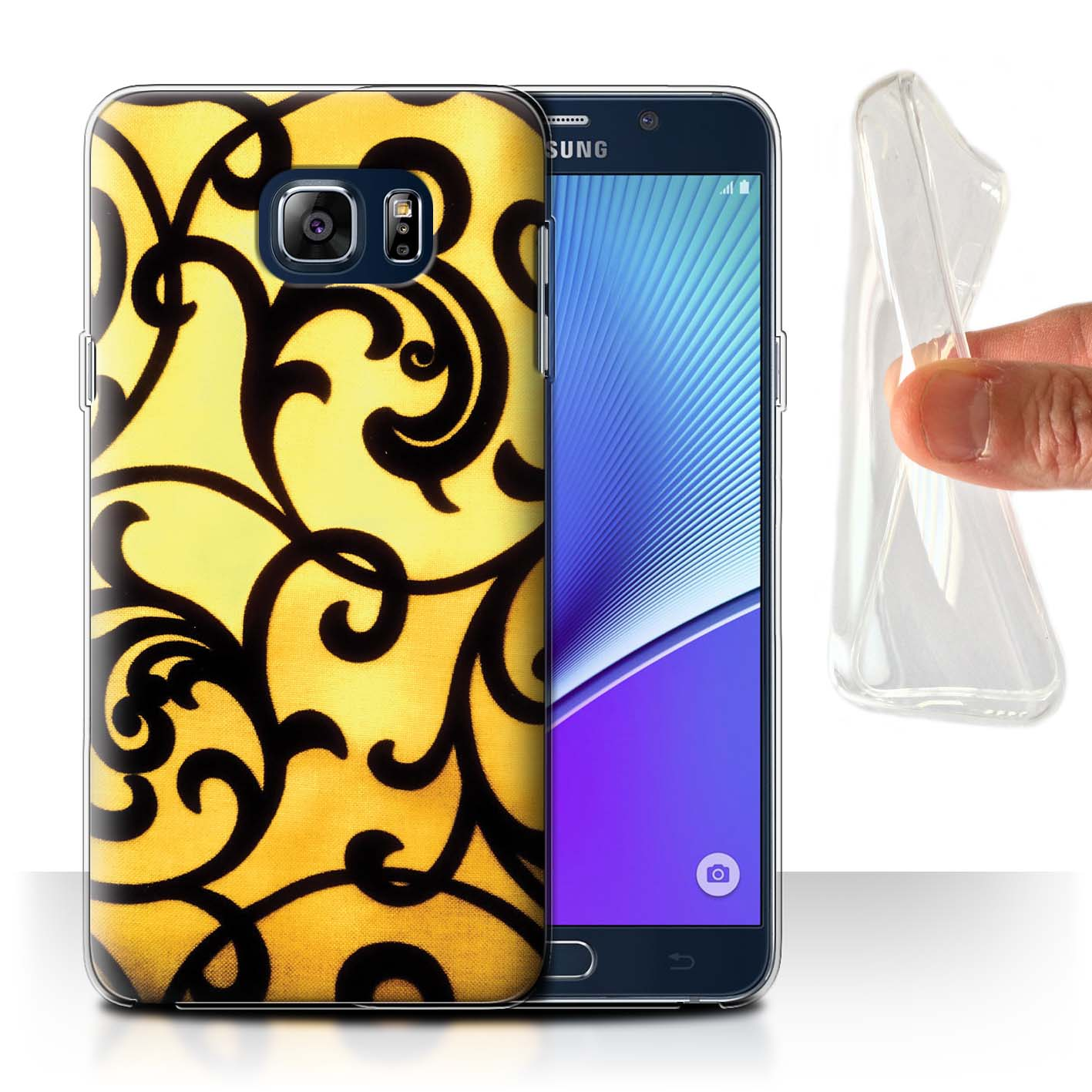 STUFF4-Gel-TPU-Phone-Case-for-Samsung-Galaxy-Note-5-N920-Yellow-Fashion
