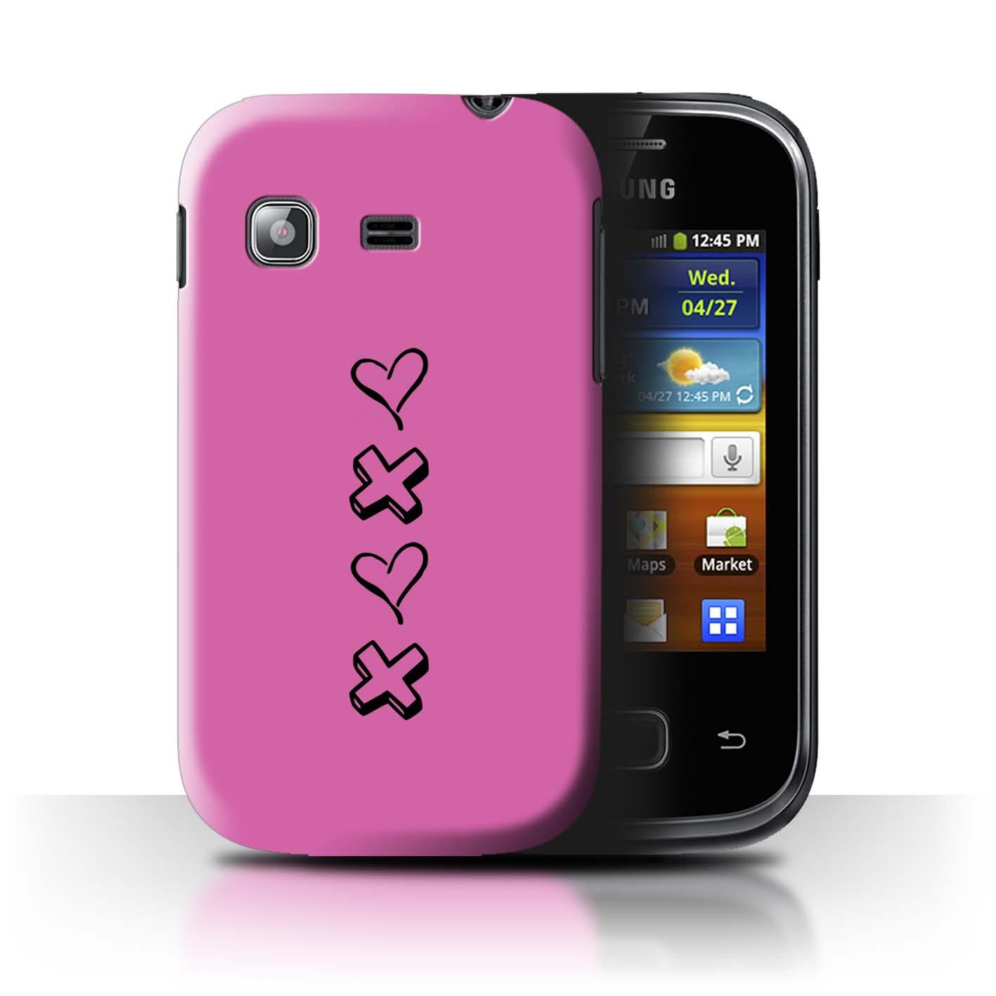 Stuff 4 teléfono caso/cubierta trasera para Samsung Galaxy Bolsillo/S5300/Corazón Xoxo