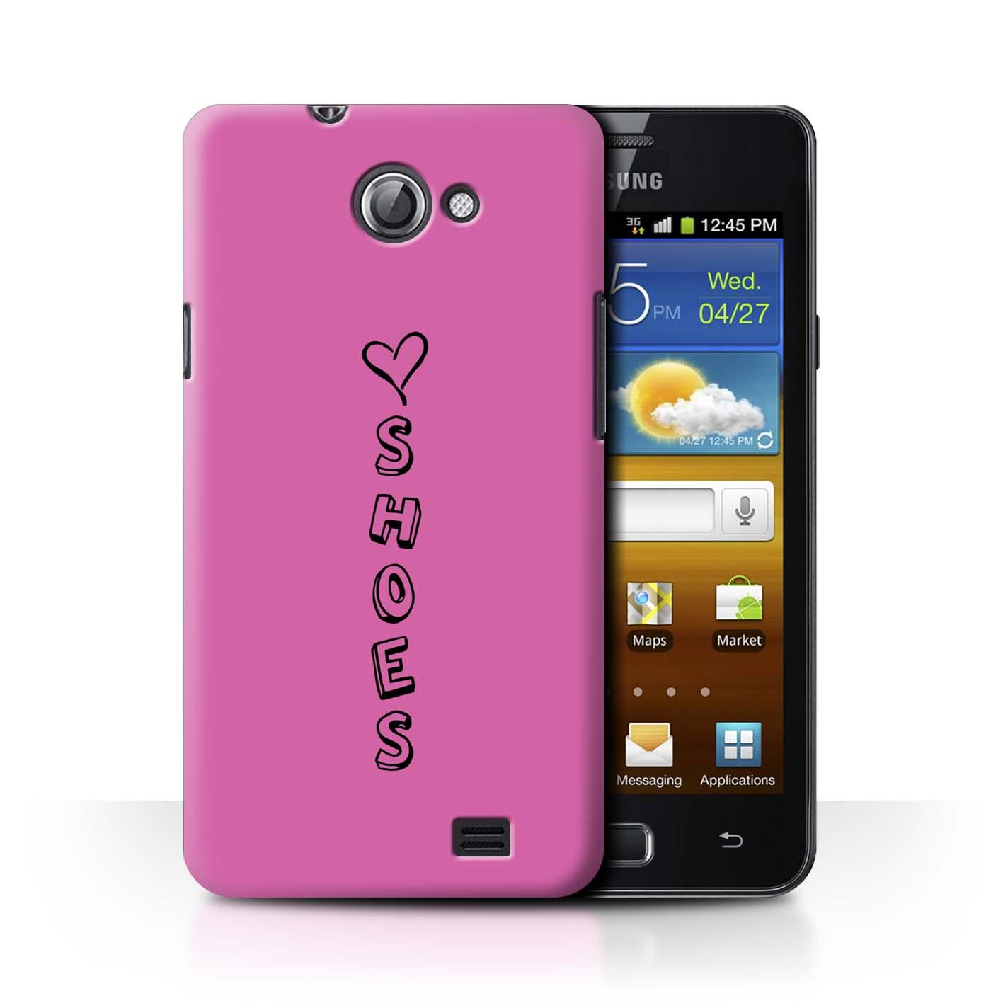 Stuff 4 teléfono caso/cubierta trasera para Samsung Galaxy R/I9103/Corazón Xoxo