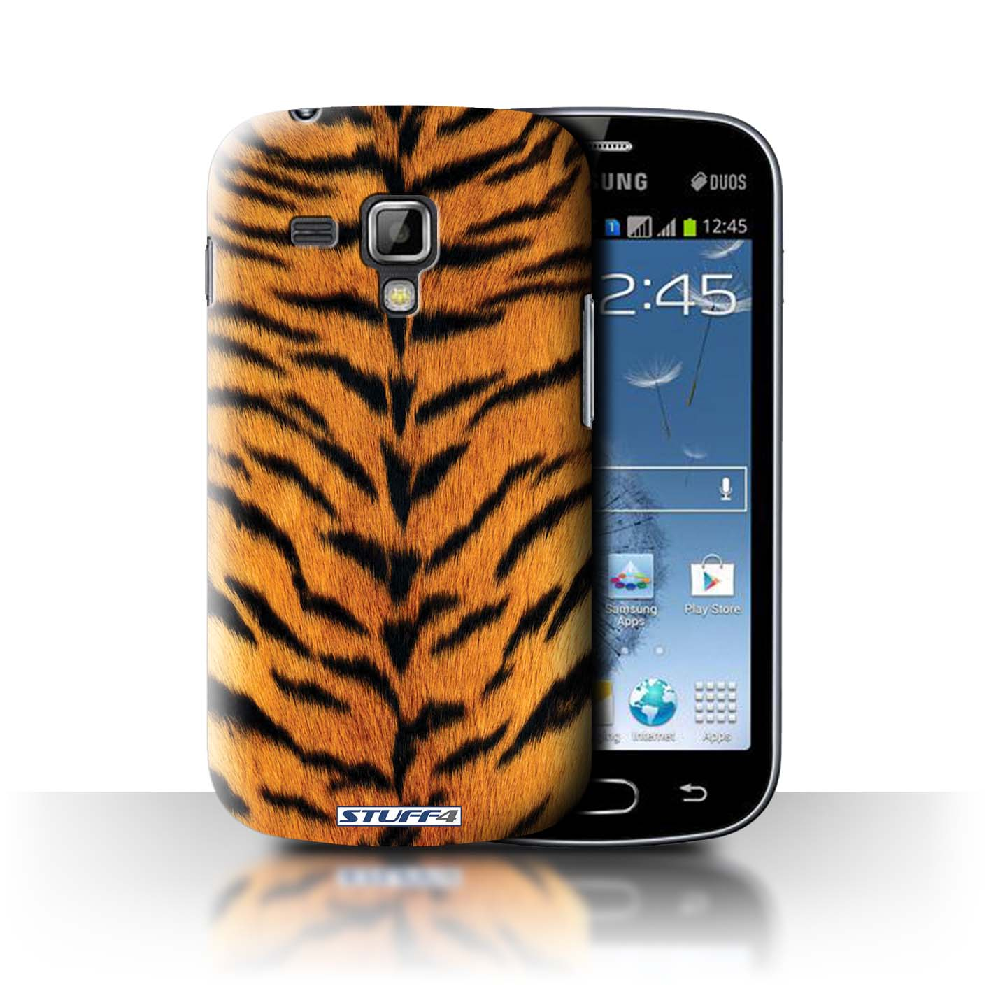 STUFF4 Case/Cover for Samsung Galaxy Trend Plus/S7580/Tiger Animal Skin/Print