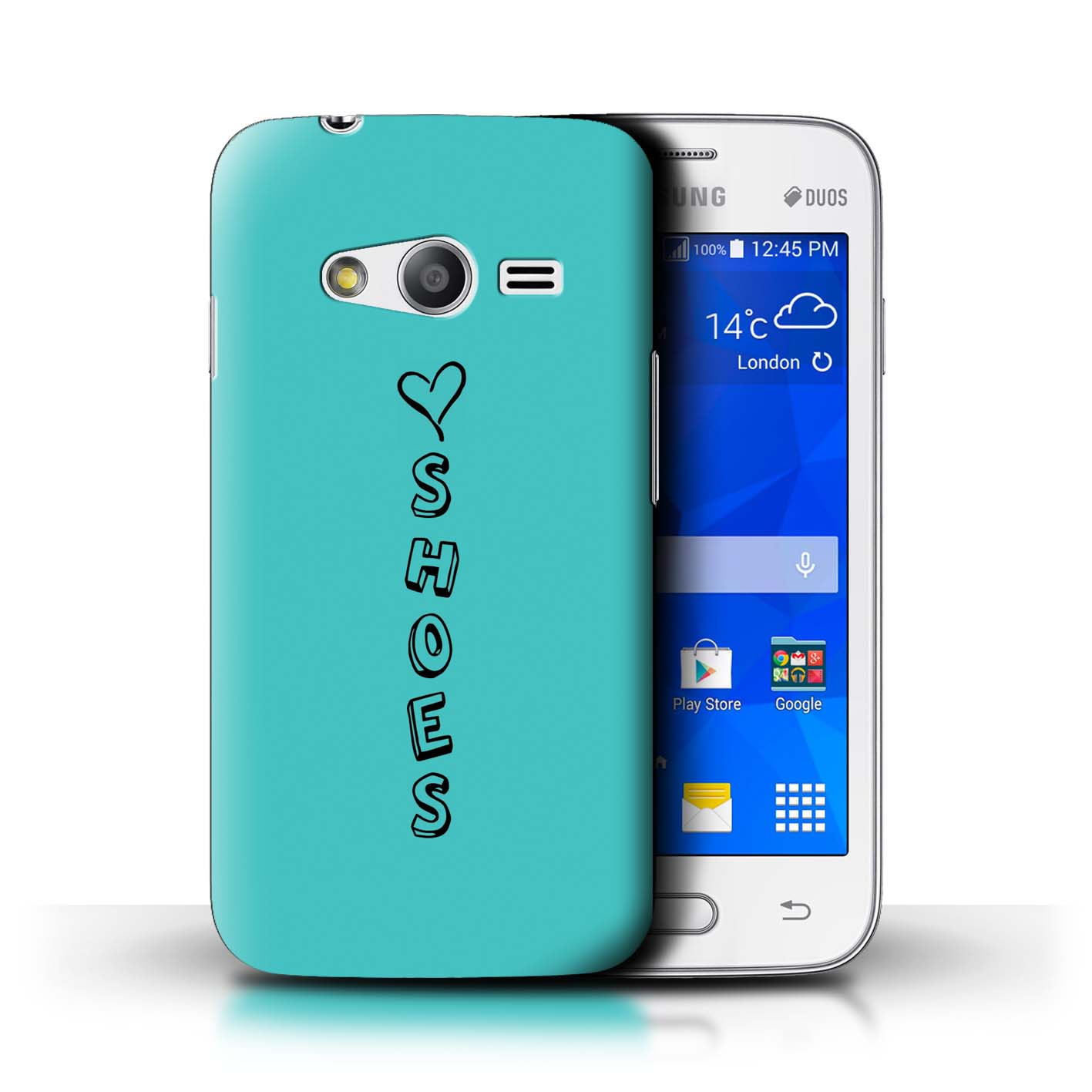 Stuff4 Hülle/Case/Backcover für Samsung Galaxy Trend Neo/G313/Herz XOXO