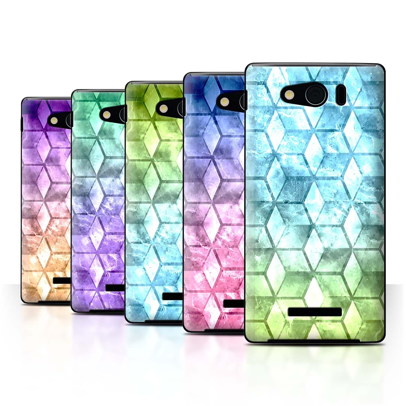 STUFF4-Back-Case-Cover-Skin-for-Sharp-Aquos-Xx-Mini-303SH-Colour-Cube
