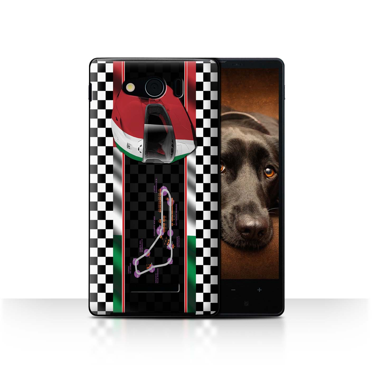STUFF4-Back-Case-Cover-Skin-for-Sharp-Aquos-Xx-Mini-303SH-F1-Track-Flag