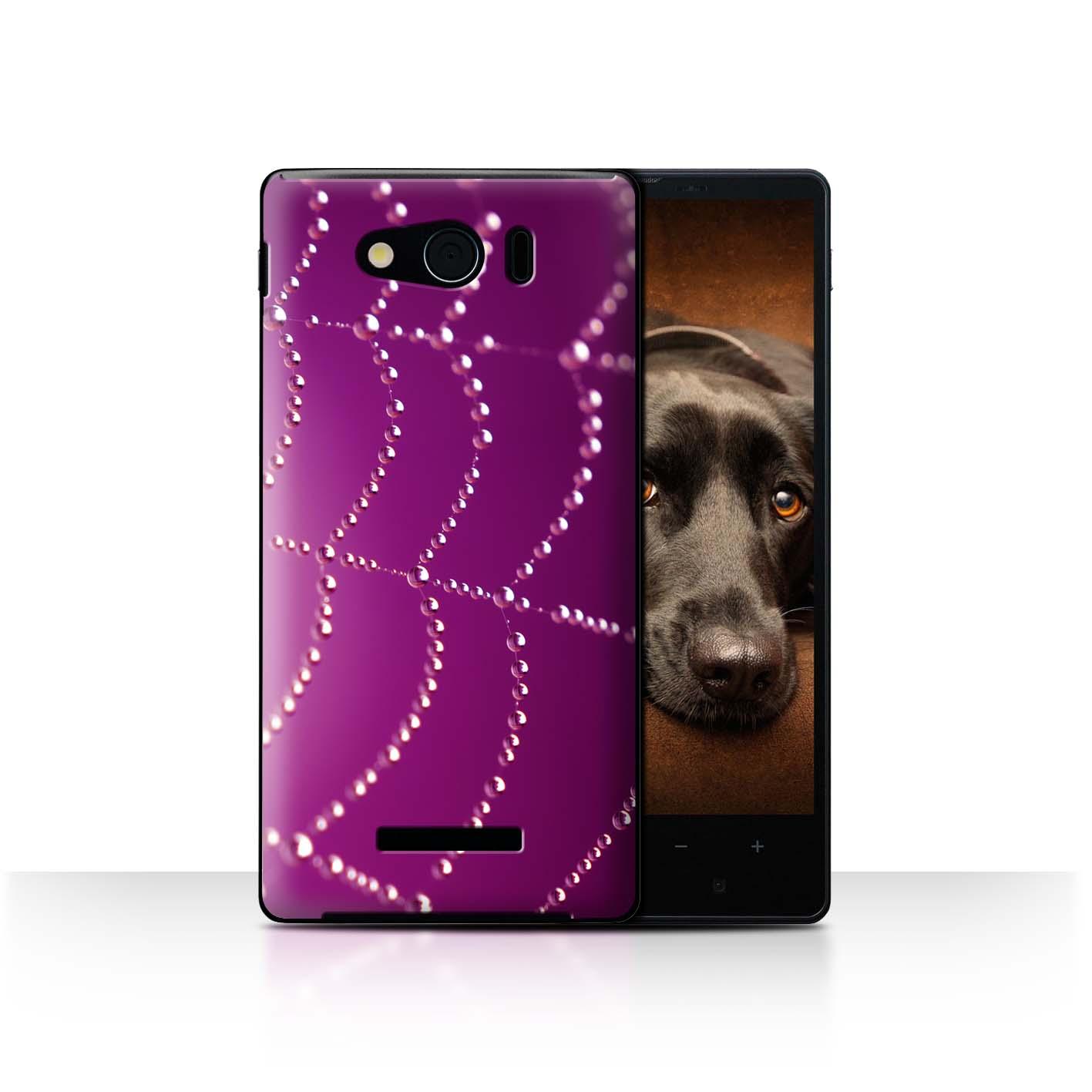 STUFF4-Back-Case-Cover-Skin-for-Sharp-Aquos-Xx-Mini-303SH-Spider-Web-Pearls