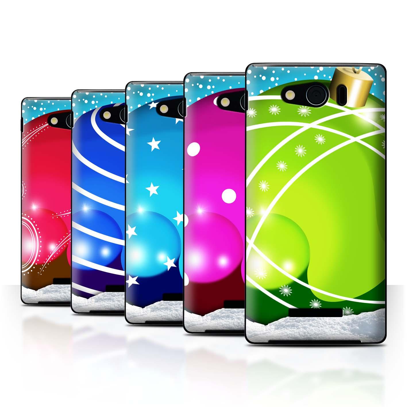 STUFF4-Back-Case-Cover-Skin-for-Sharp-Aquos-Xx-Mini-303SH-Christmas-Baubles
