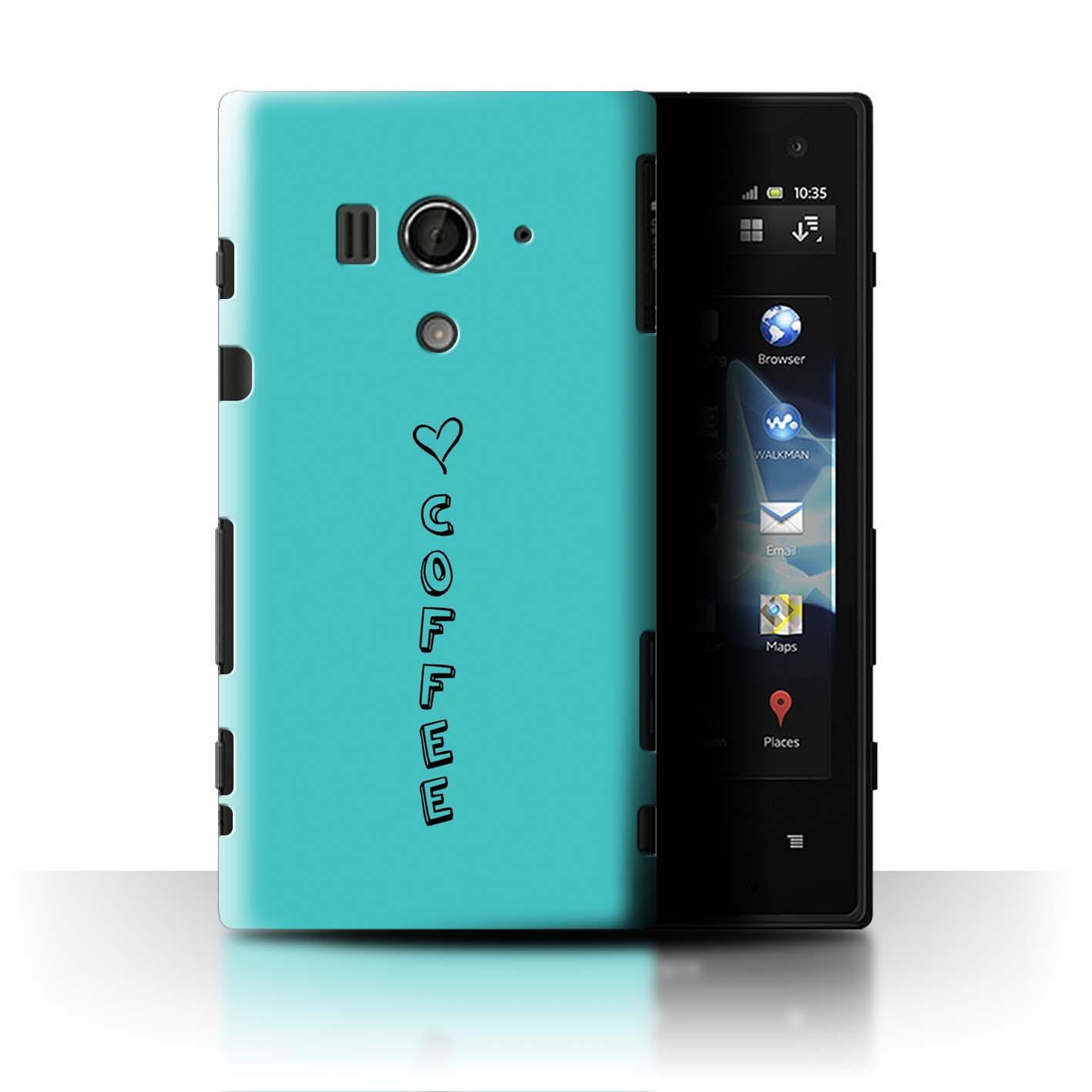 Stuff 4 teléfono caso/cubierta posterior para Sony Xperia Acro S/LT26w/Corazón Xoxo