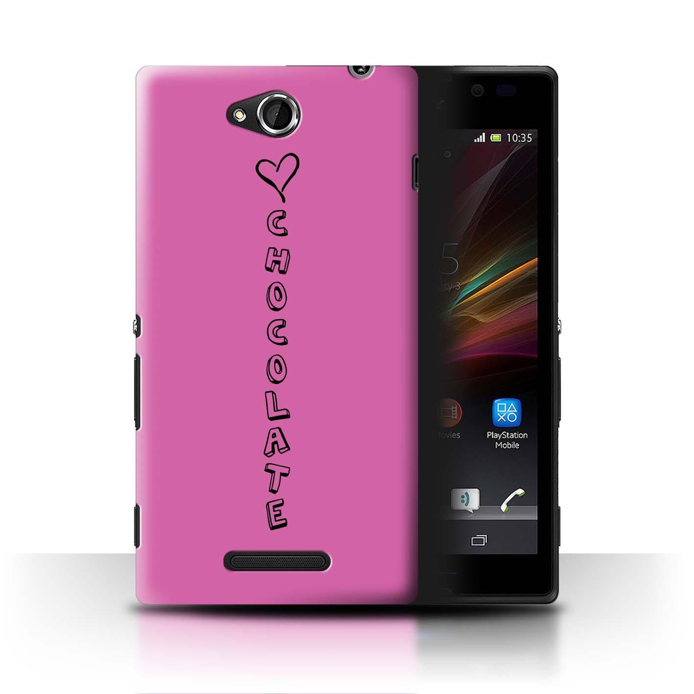 Stuff 4 teléfono caso/cubierta trasera para Sony Xperia C/C2305/Corazón Xoxo