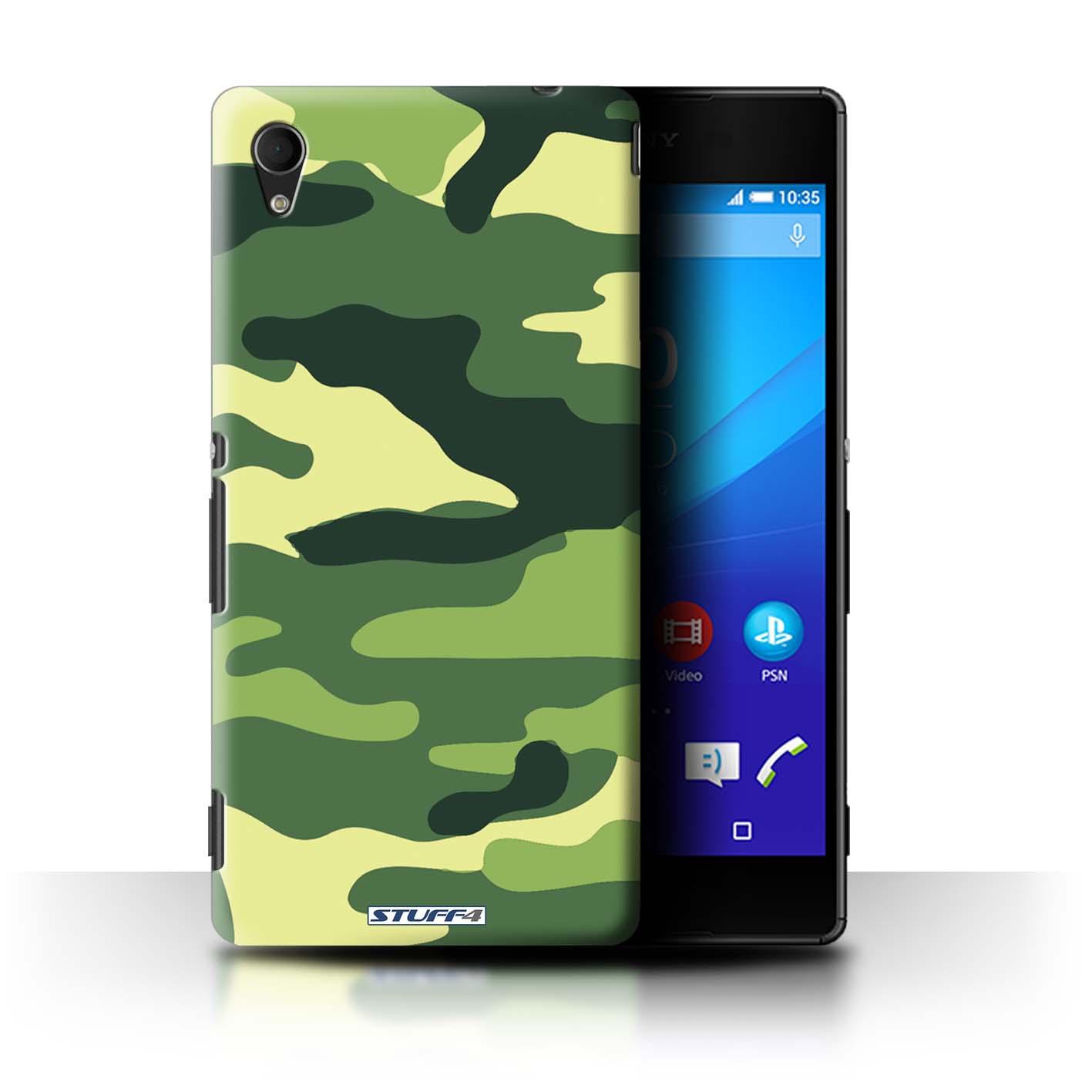 Coque-Etui-Housse-de-Stuff4-pour-Sony-Xperia-M4-Aqua-Armee-Camouflage