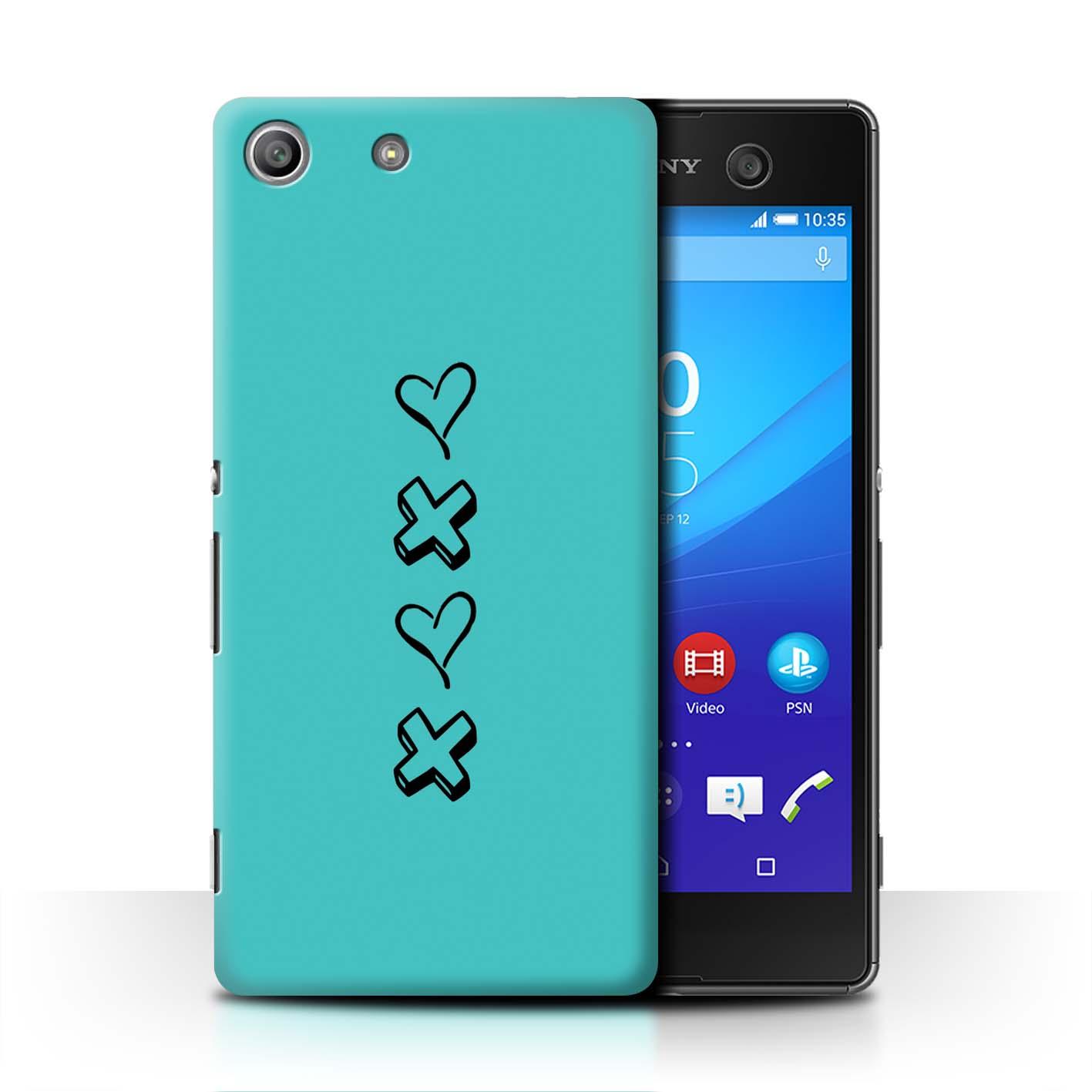 Stuff 4 teléfono caso/cubierta trasera para Sony Xperia M5/Corazón Xoxo