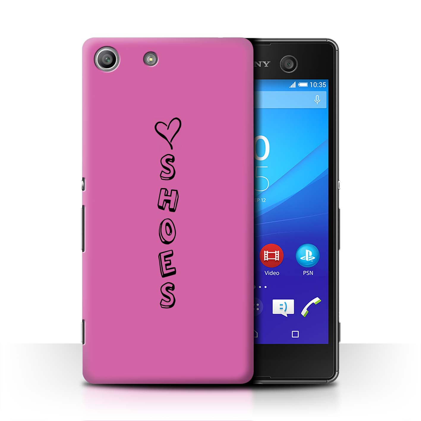 Stuff4 Hülle/Case/Backcover für Sony Xperia M5/Herz XOXO