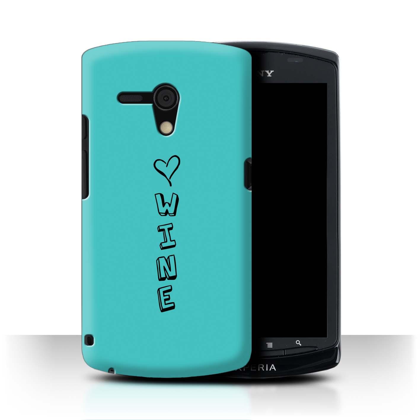 Stuff4 Hülle/Case/Backcover für Sony Xperia Neo L/MT25i/Herz XOXO