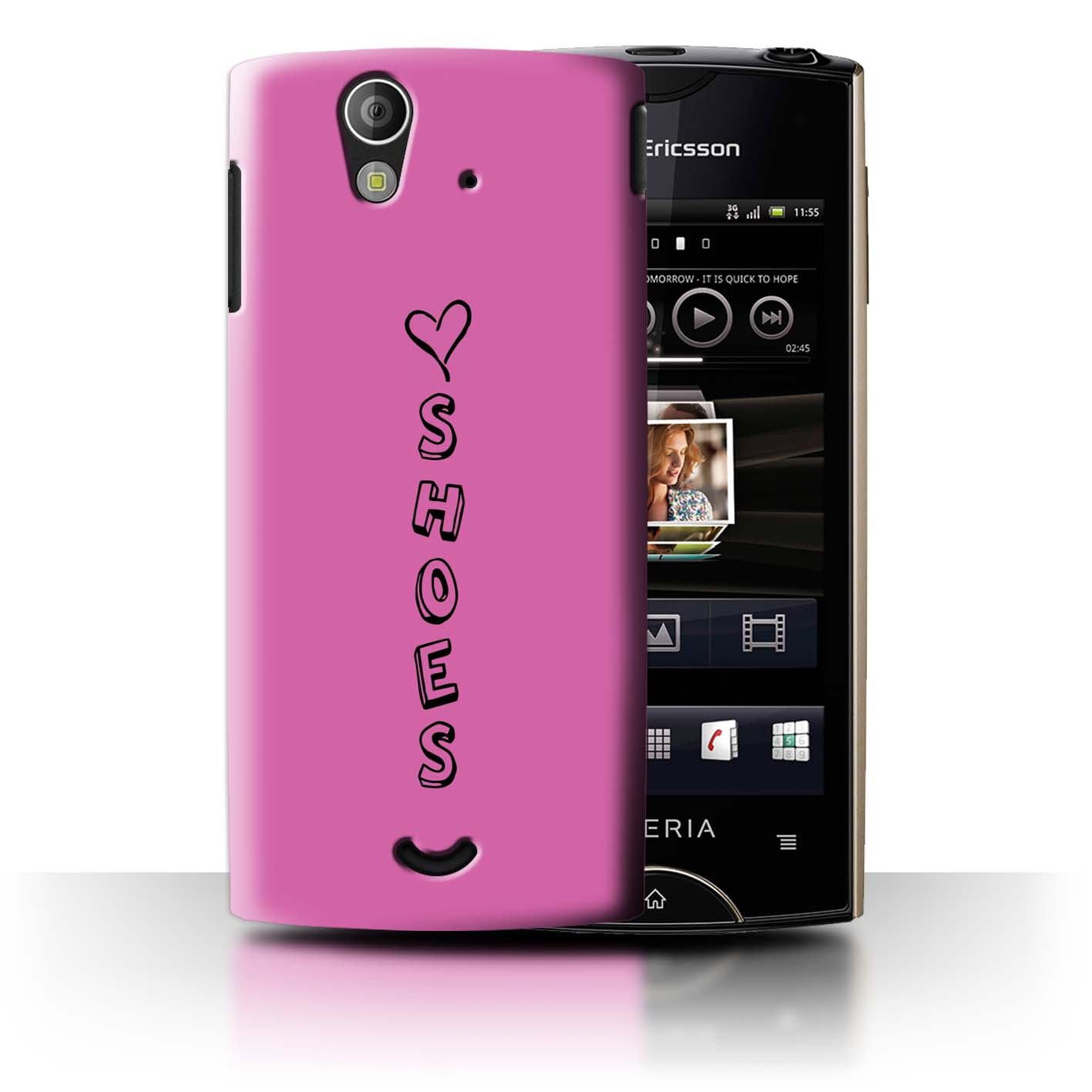 Stuff 4 teléfono caso/cubierta posterior para Sony Xperia Ray/ST18i/Corazón Xoxo