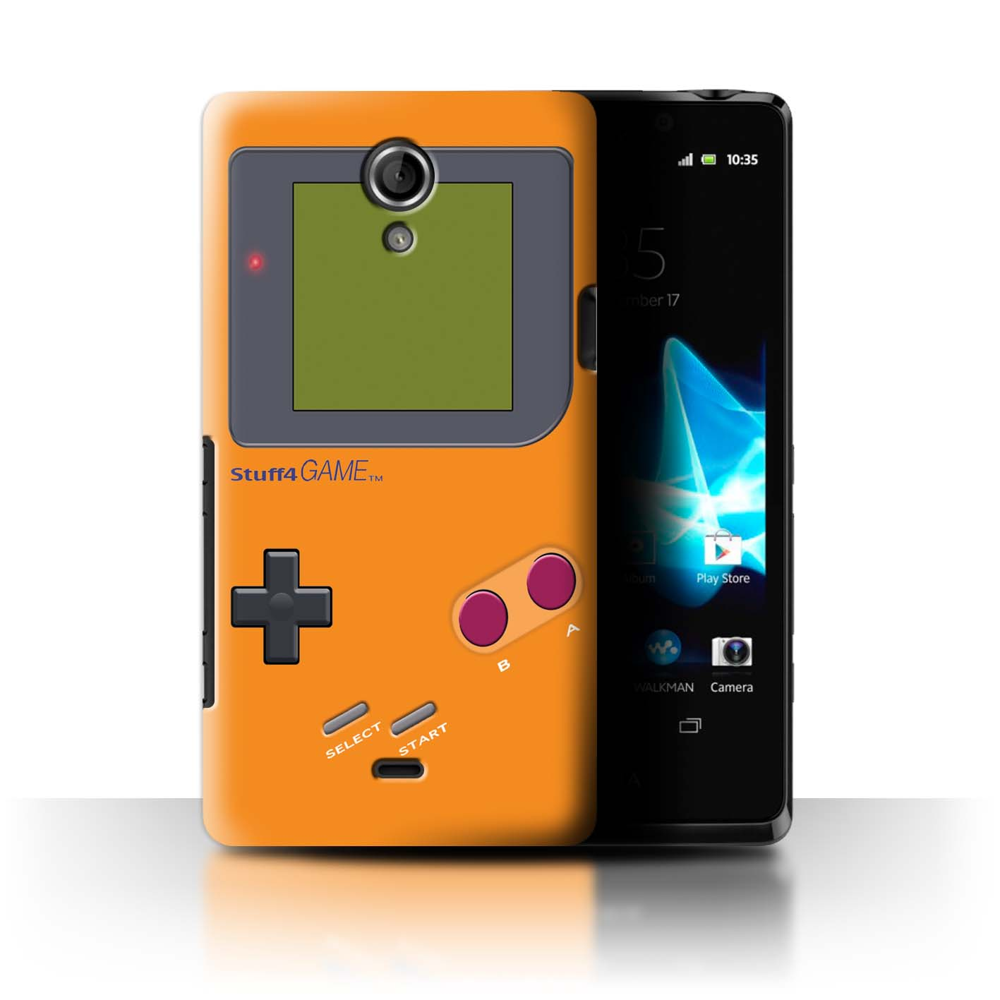 Stuff4-Huelle-Case-Backcover-fuer-Sony-Xperia-T-LT30-Videogamer-Gameboy
