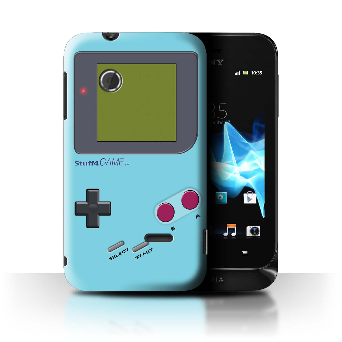 Stuff4-Huelle-Case-Backcover-fuer-Sony-Xperia-Tipo-ST21-Videogamer-Gameboy