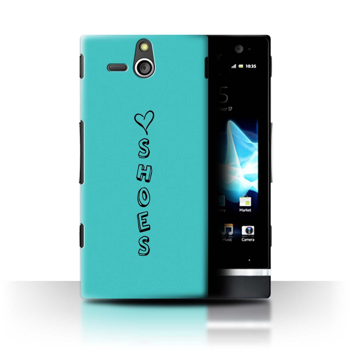 Stuff4 Hülle/Case/Backcover für Sony Xperia U/ST25i/Herz XOXO