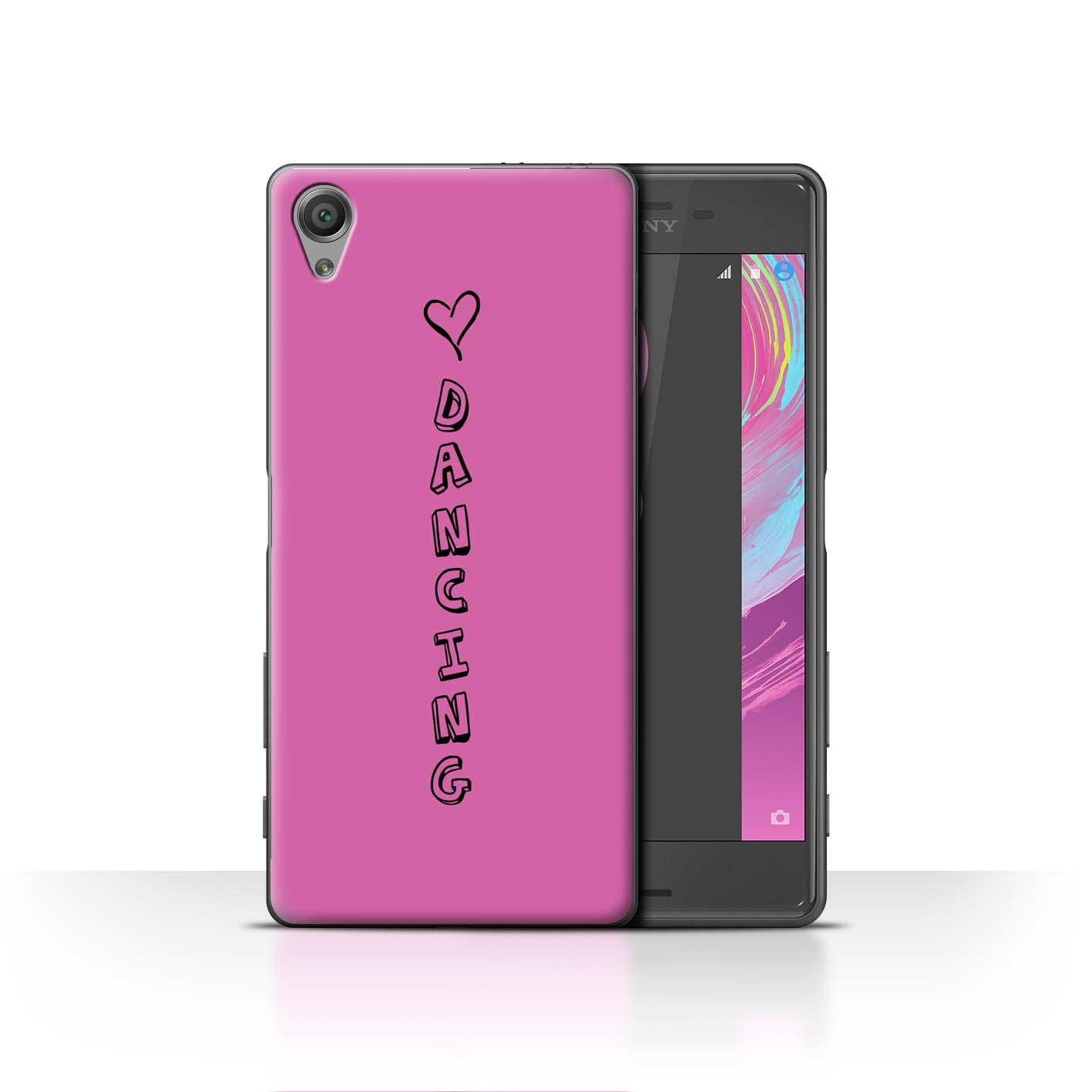 Stuff 4 teléfono caso/cubierta posterior para Sony Xperia X/Corazón Xoxo