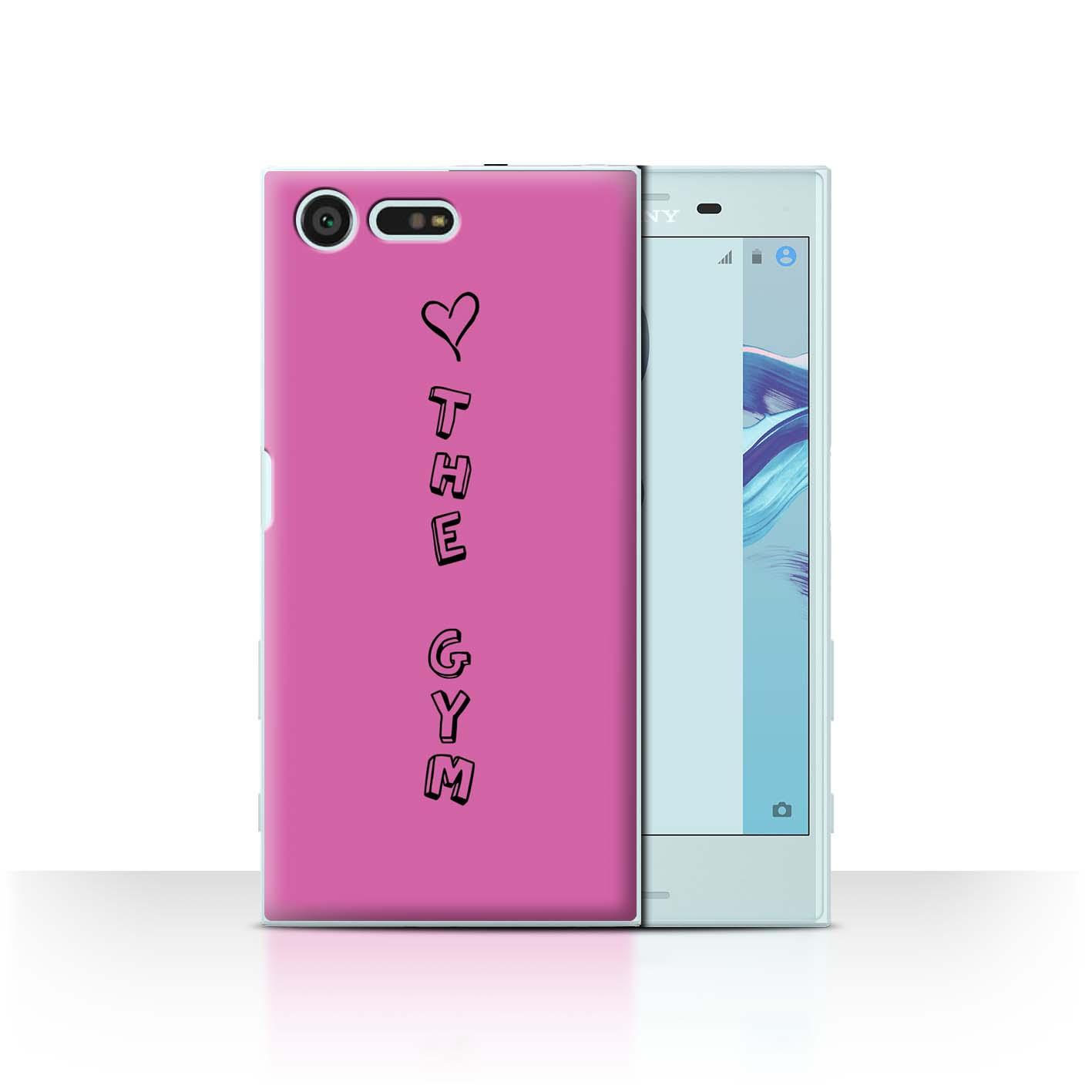 Stuff 4 teléfono caso/cubierta posterior para Sony Xperia X Compacto/Corazón Xoxo