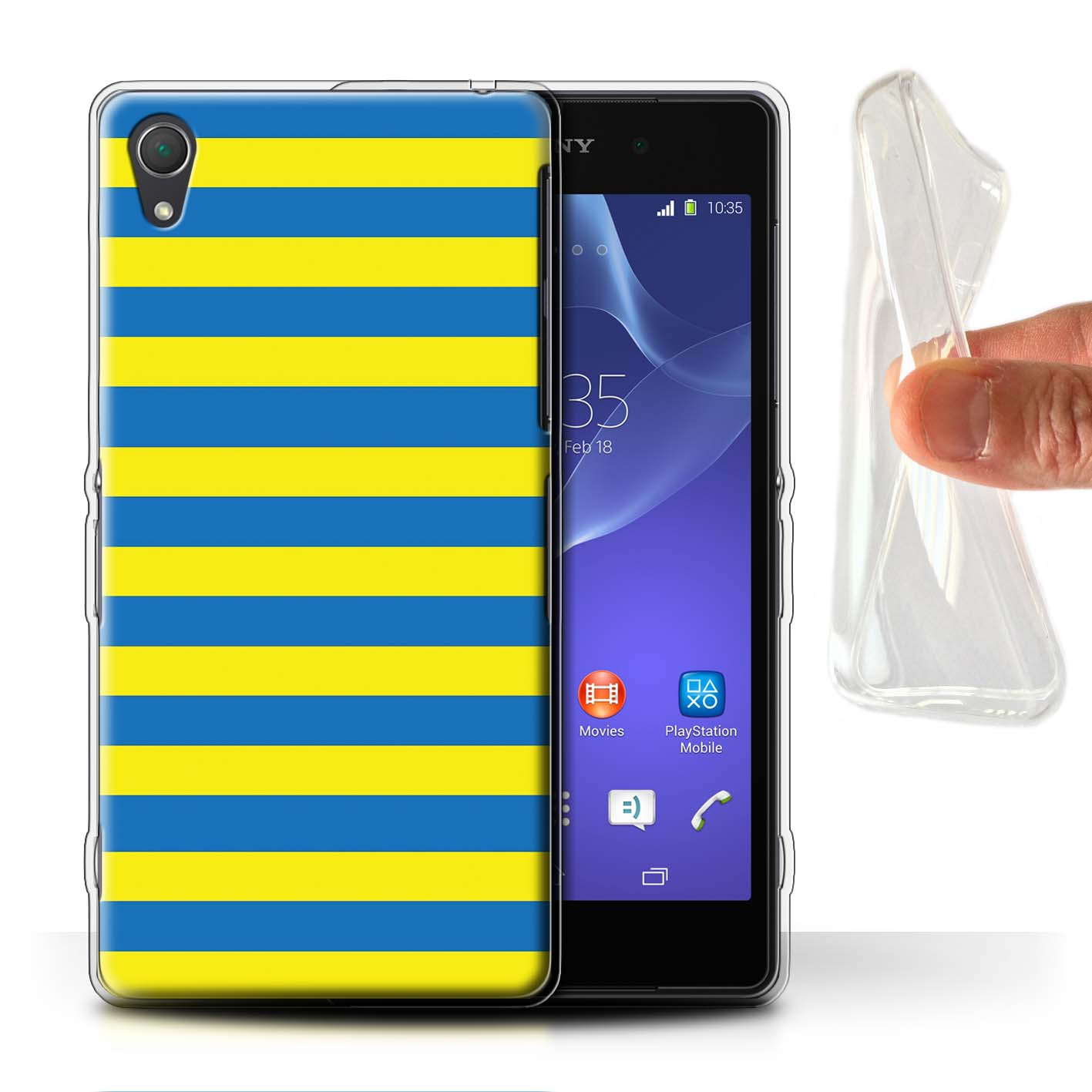 Gel-TPU-Phone-Case-for-Sony-Xperia-Z-Smartphone-Yellow-Fashion-Protective-Cover