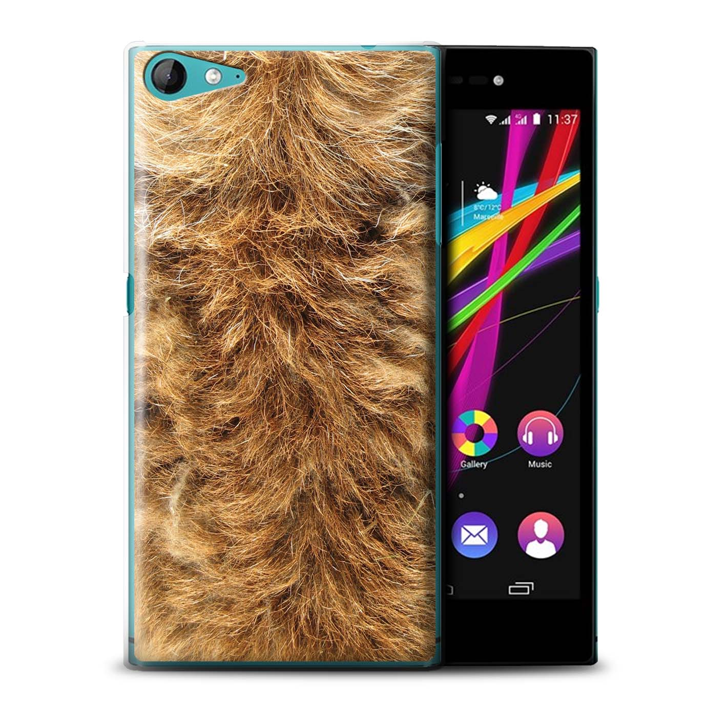 STUFF4-Phone-Case-Back-Cover-for-Wiko-Highway-Star-4G-Animal-Fur-Effect-Pattern
